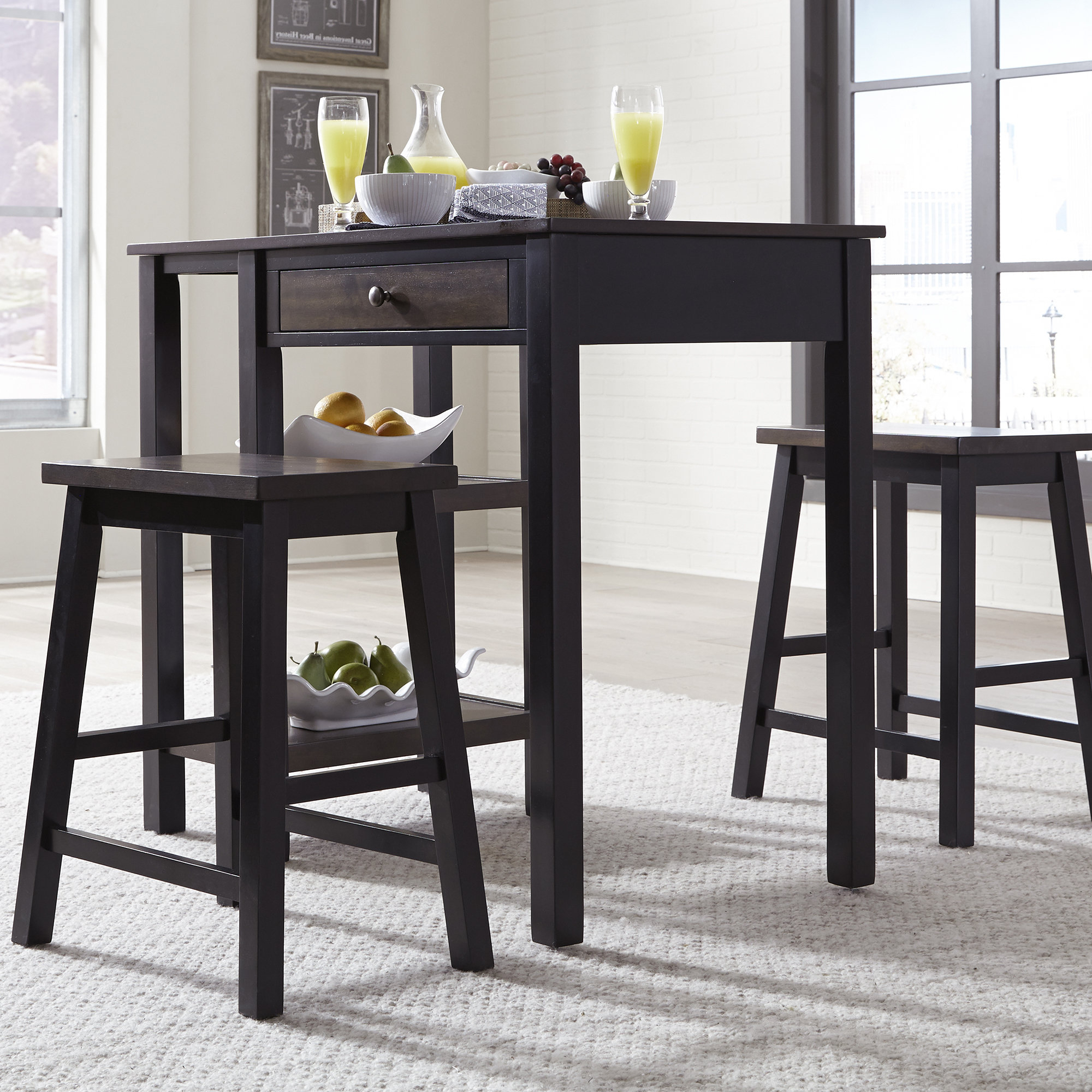 Most Up To Date Emmeline 5 Piece Breakfast Nook Dining Sets Pertaining To Winston Porter Swigart 3 Piece Breakfast Nook Dining Set (View 8 of 25)