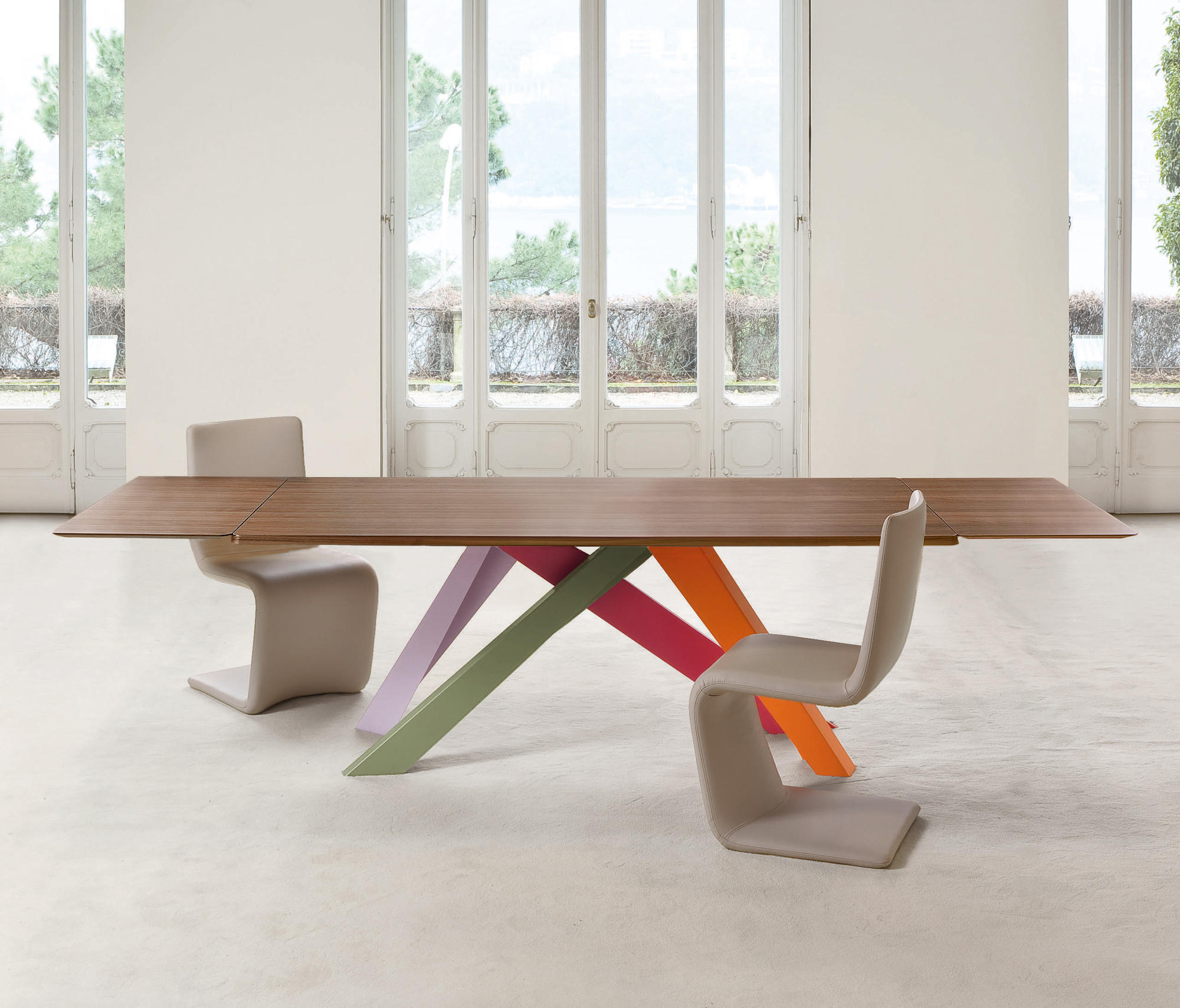 Most Up To Date Giles 3 Piece Dining Sets With Regard To Big Table – Dining Tables From Bonaldo (View 19 of 25)