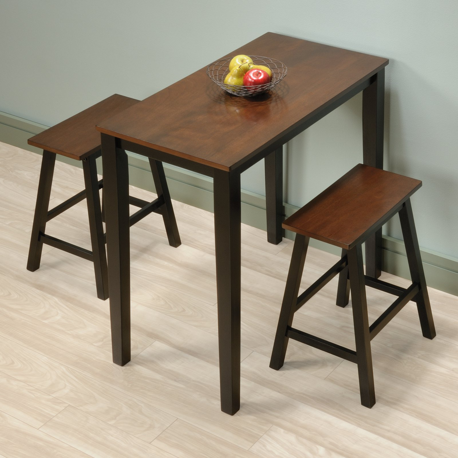 Most Up To Date Moorehead 3 Piece Counter Height Dining Sets Throughout Sauder Beginnings 3 Piece Counter Height Dining Set, Cherry Finish (View 16 of 25)