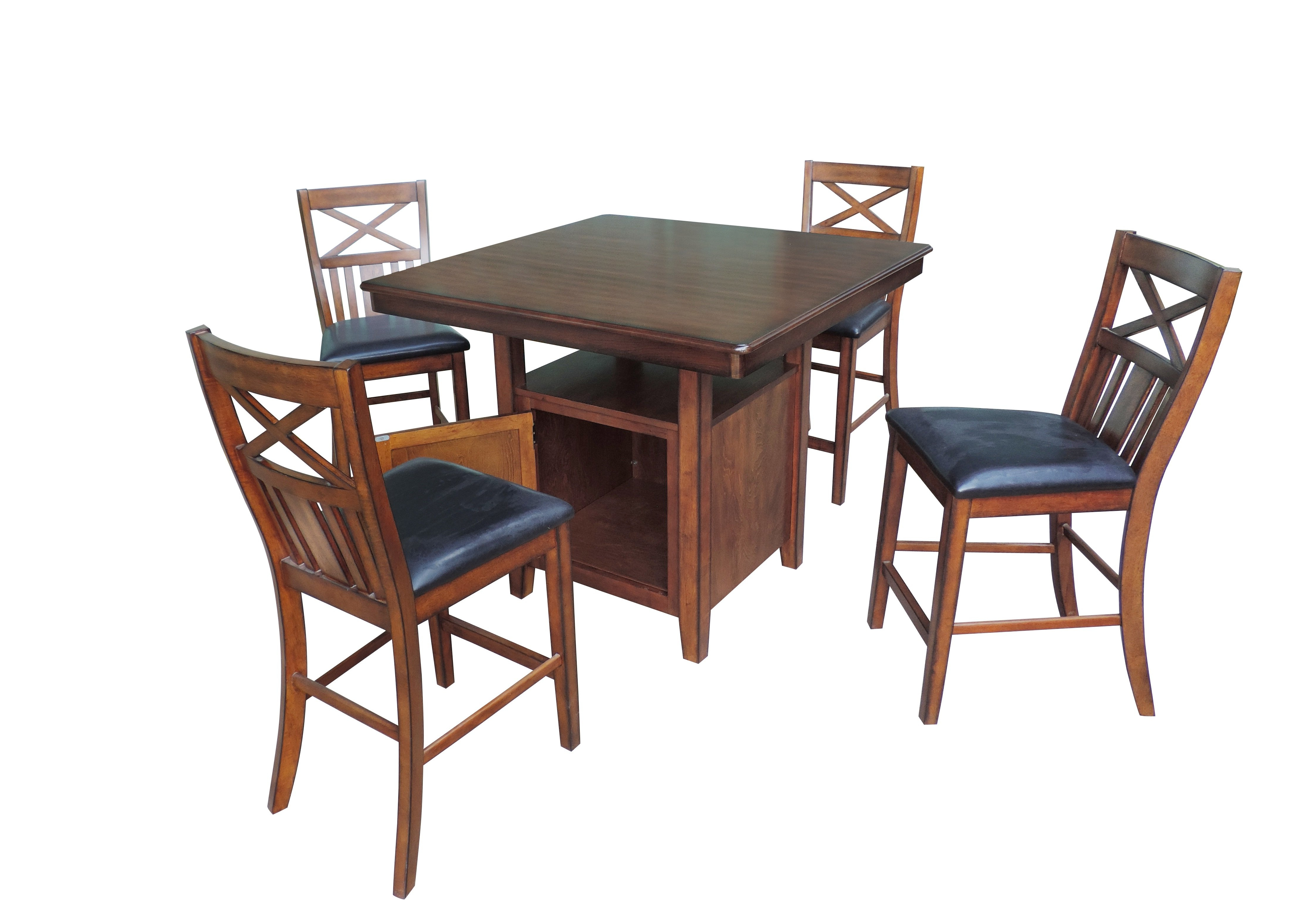 Most Up To Date Nathanielhome 5 Piece Counter Height Dining Set (View 11 of 25)