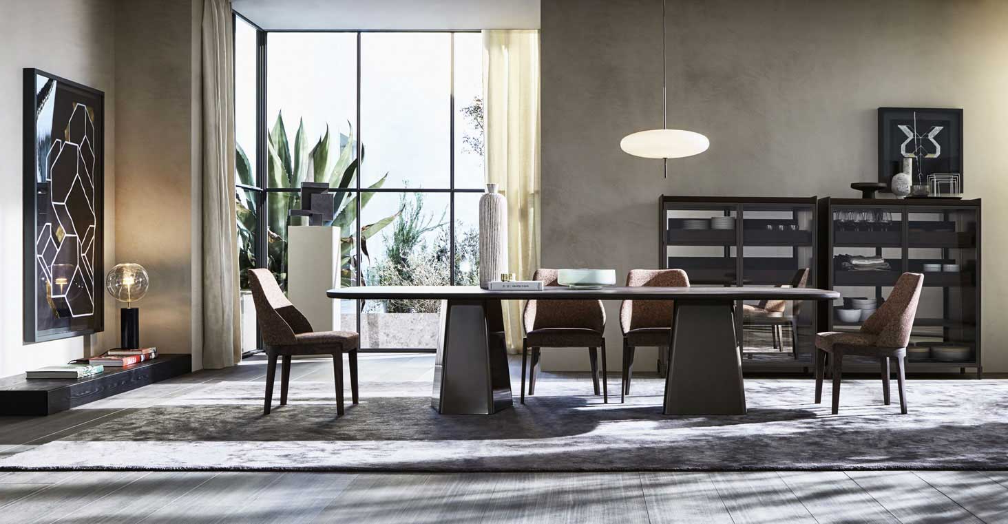 Most Up To Date Rossi 5 Piece Dining Sets Within Mayfair – Tables – Molteni&c (View 13 of 25)