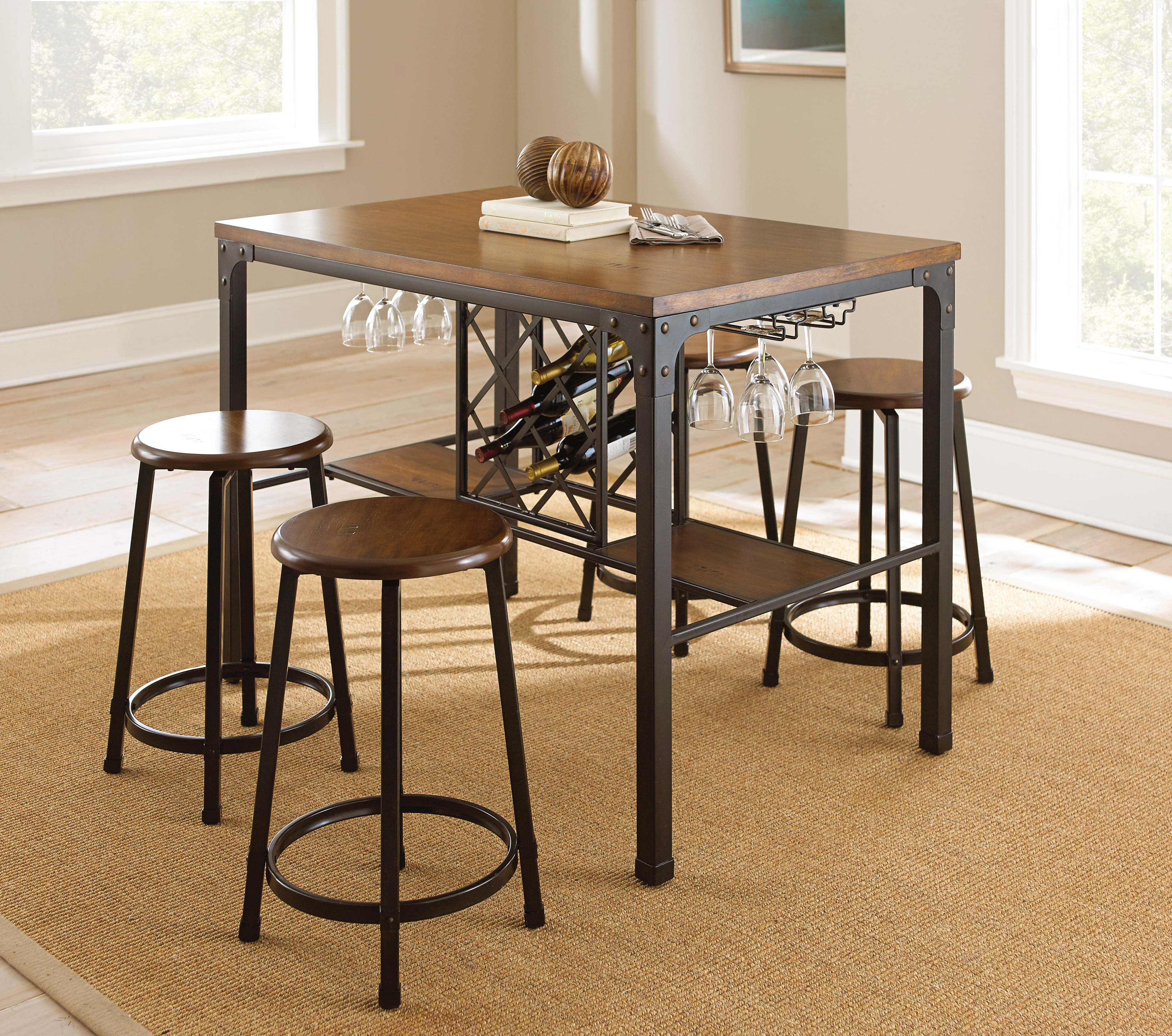 Most Up To Date Trent Austin Design Woodside 5 Piece Pub Table Set & Reviews With Poynter 3 Piece Drop Leaf Dining Sets (View 9 of 25)