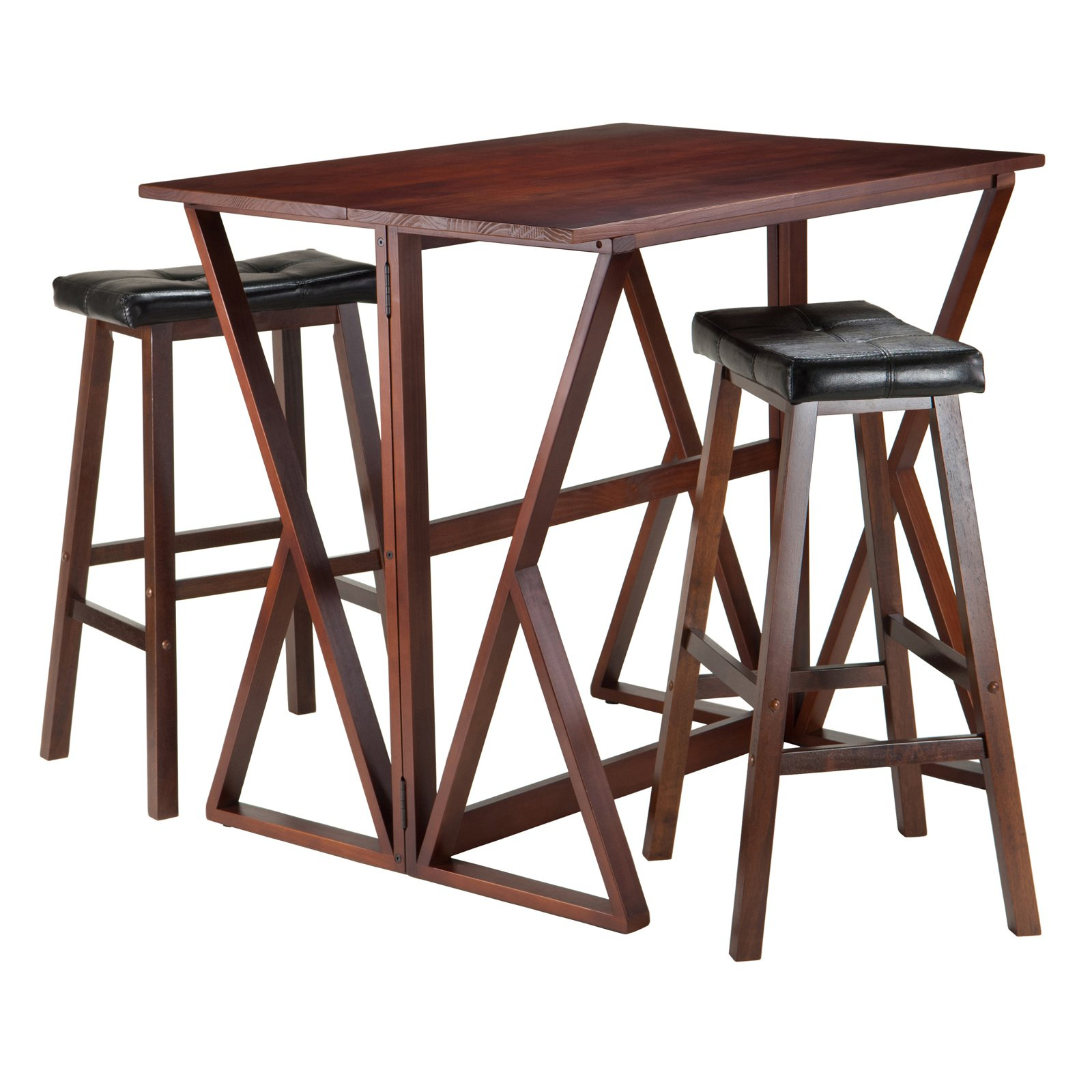 Most Up To Date Winsome Trading Harrington 3 Piece Counter Height Dining Table Set Inside Winsome 3 Piece Counter Height Dining Sets (View 8 of 25)