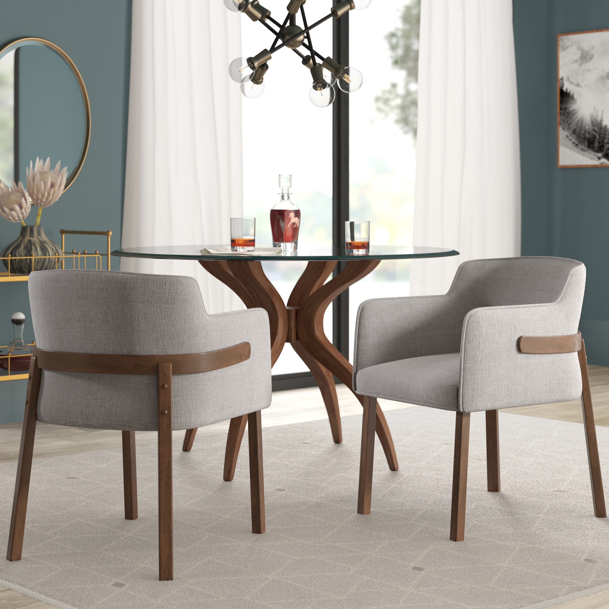 Mukai 5 Piece Dining Sets Within 2020 Mercury Row Mukai Upholstered Dining Chair & Reviews (View 12 of 25)