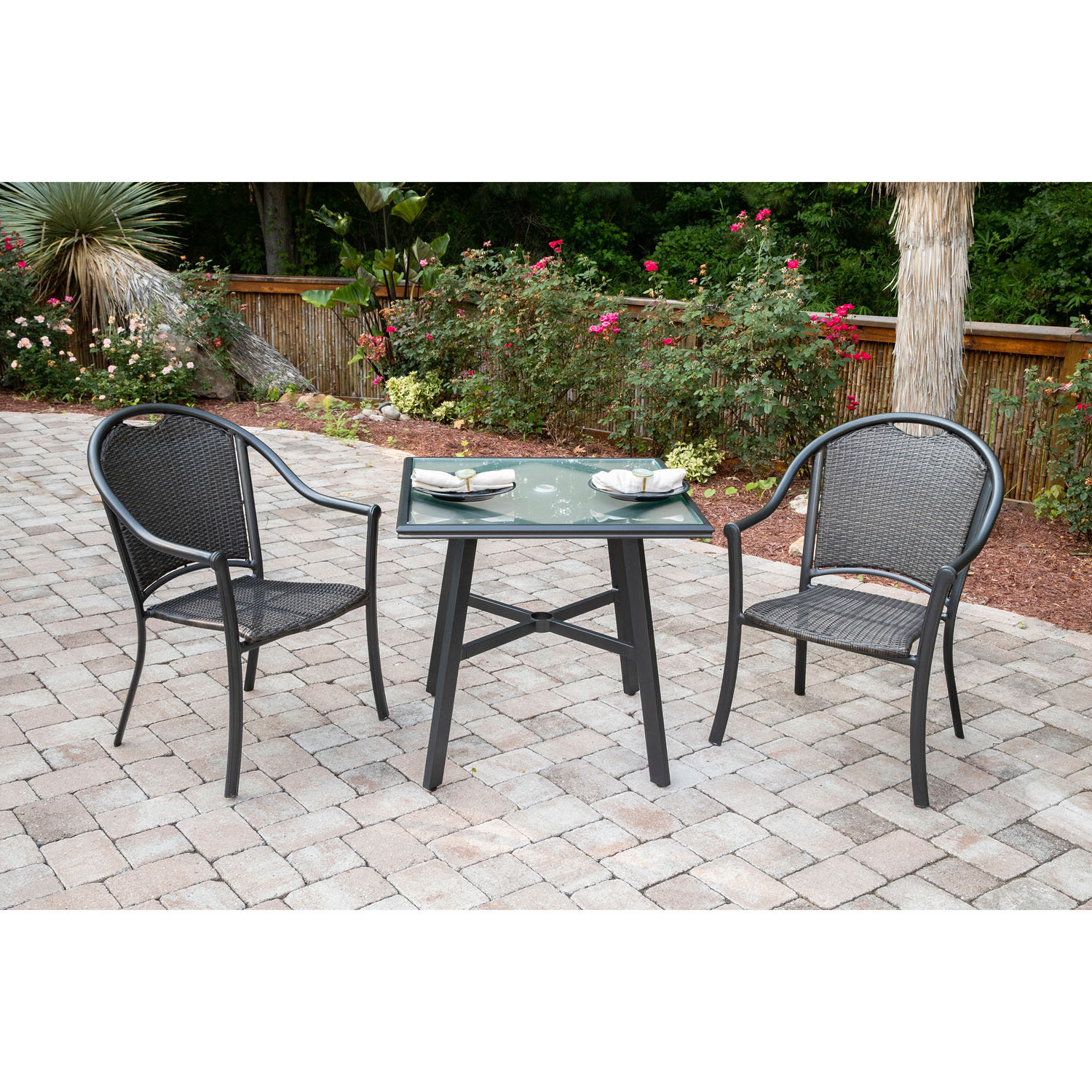 Newest Bearden 3 Piece Dining Sets Regarding Charlton Home Bearden 3 Piece Commercial Grade Patio Set With (View 3 of 25)