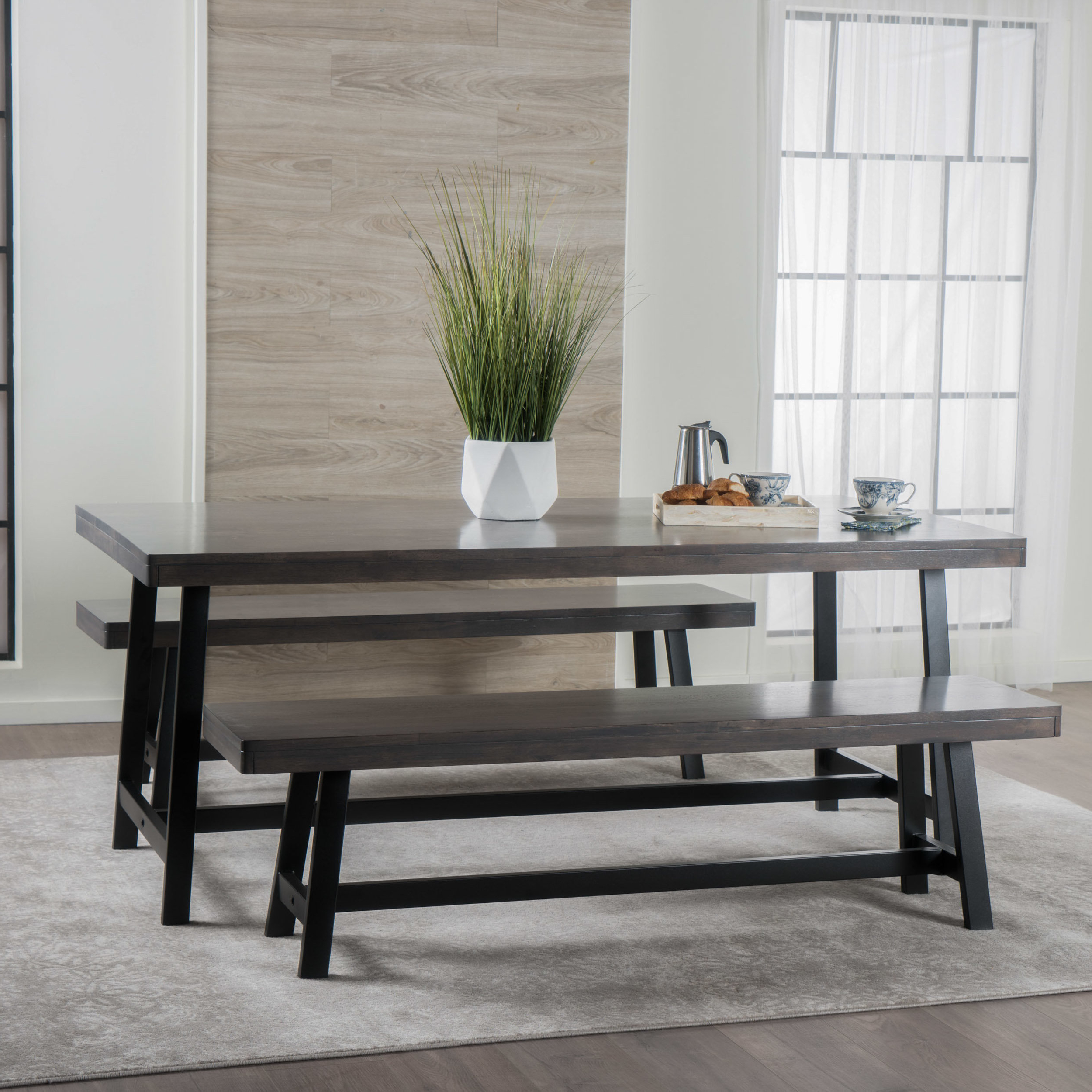 Newest Kerley 4 Piece Dining Sets Inside Maggie Rubberwood 3 Piece Dining Set & Reviews (View 15 of 25)