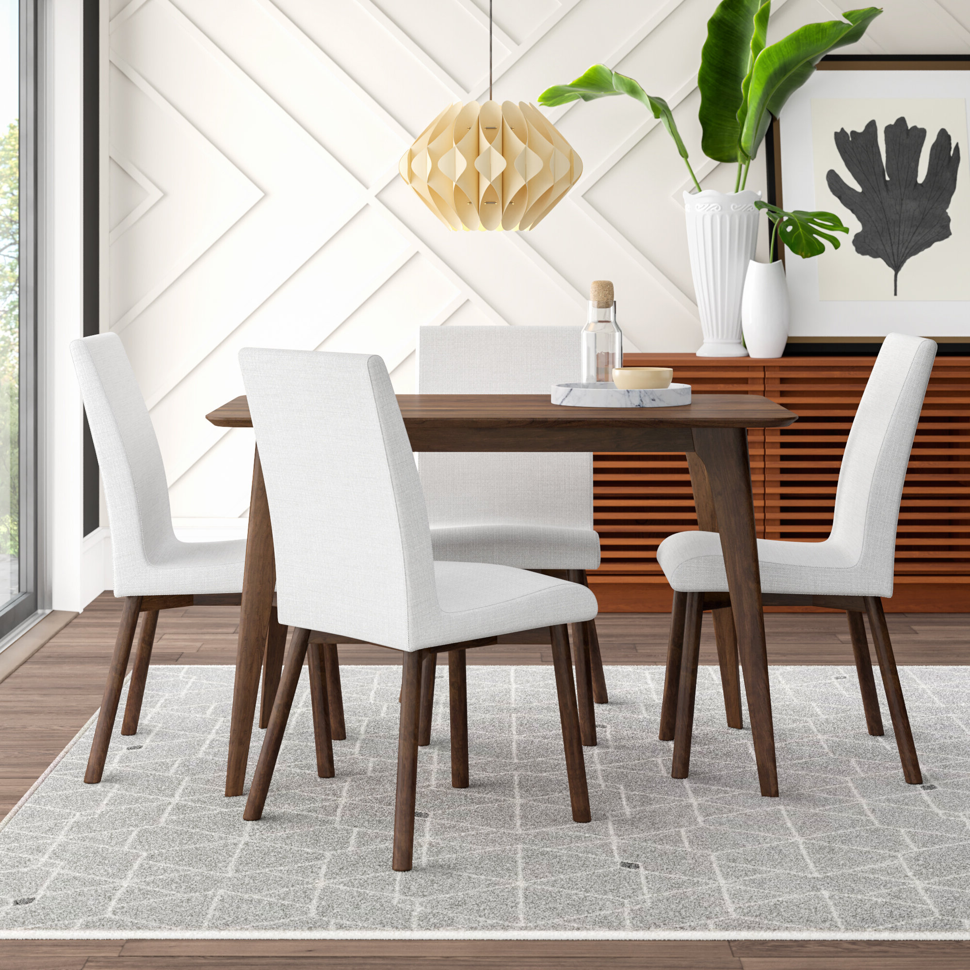 Newest Mercury Row Liles 5 Piece Dining Set & Reviews (View 22 of 25)
