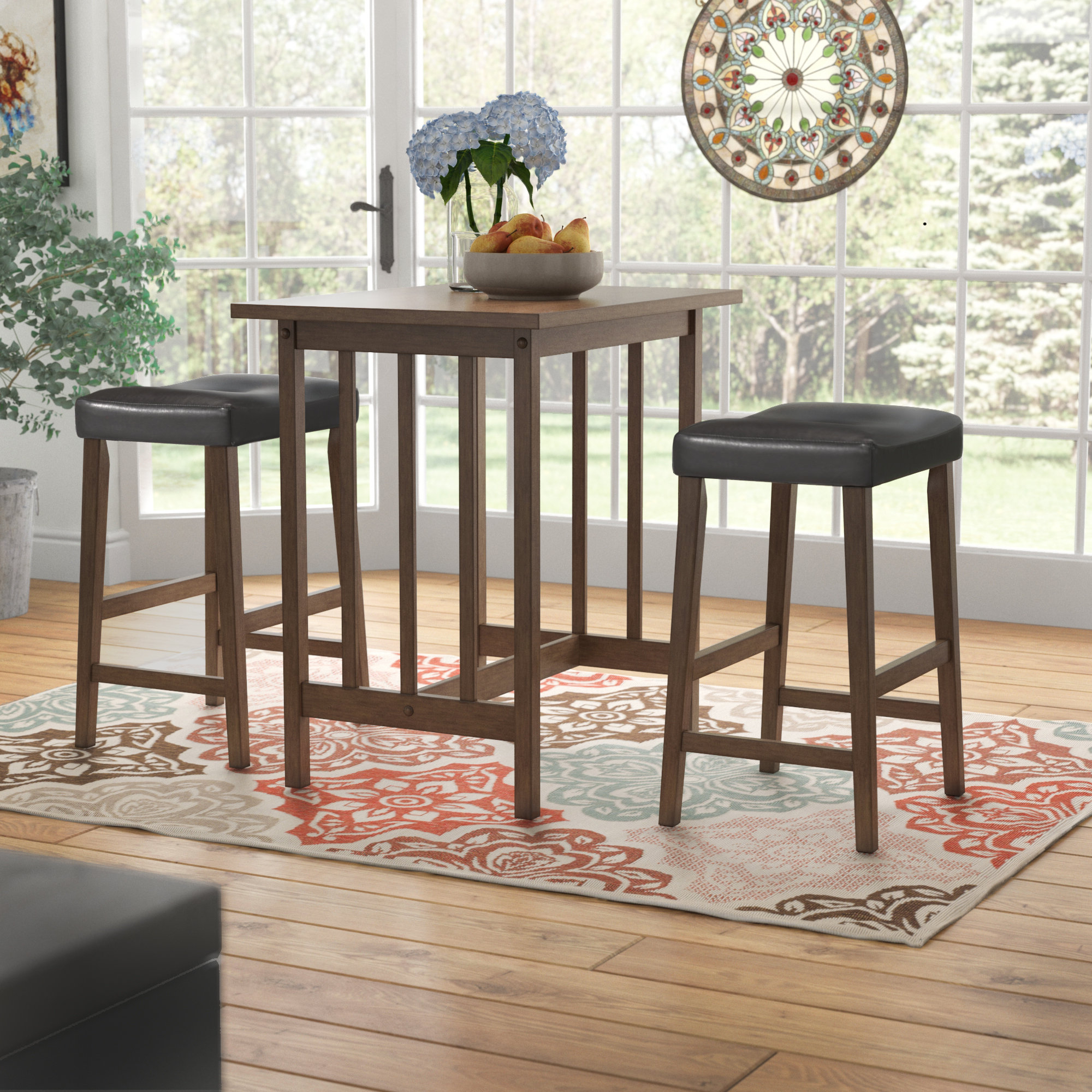 Newest Mitzel 3 Piece Dining Sets Inside Red Barrel Studio Hood Canal 3 Piece Dining Set & Reviews (View 5 of 25)