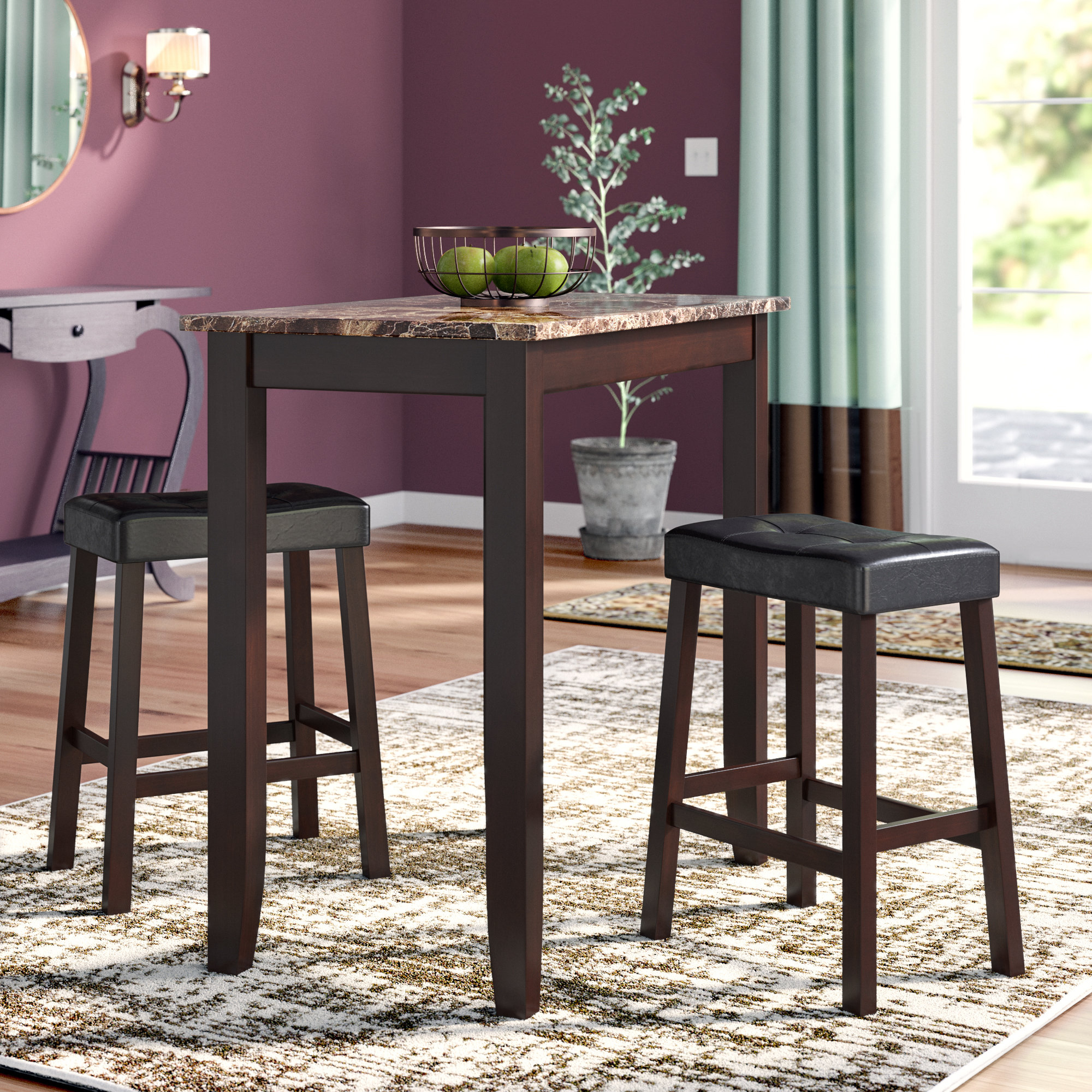 Newest Nutter 3 Piece Dining Sets Pertaining To Andover Mills Morano 3 Piece Pub Table Set & Reviews (View 21 of 25)
