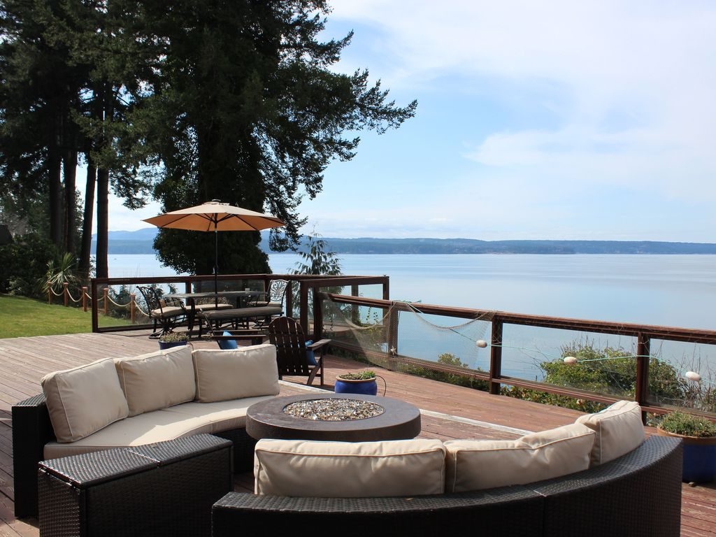Newest Relaxing Private Getaway W/ Big Ocean/water Views, Hood Canal with Hood Canal 3 Piece Dining Sets