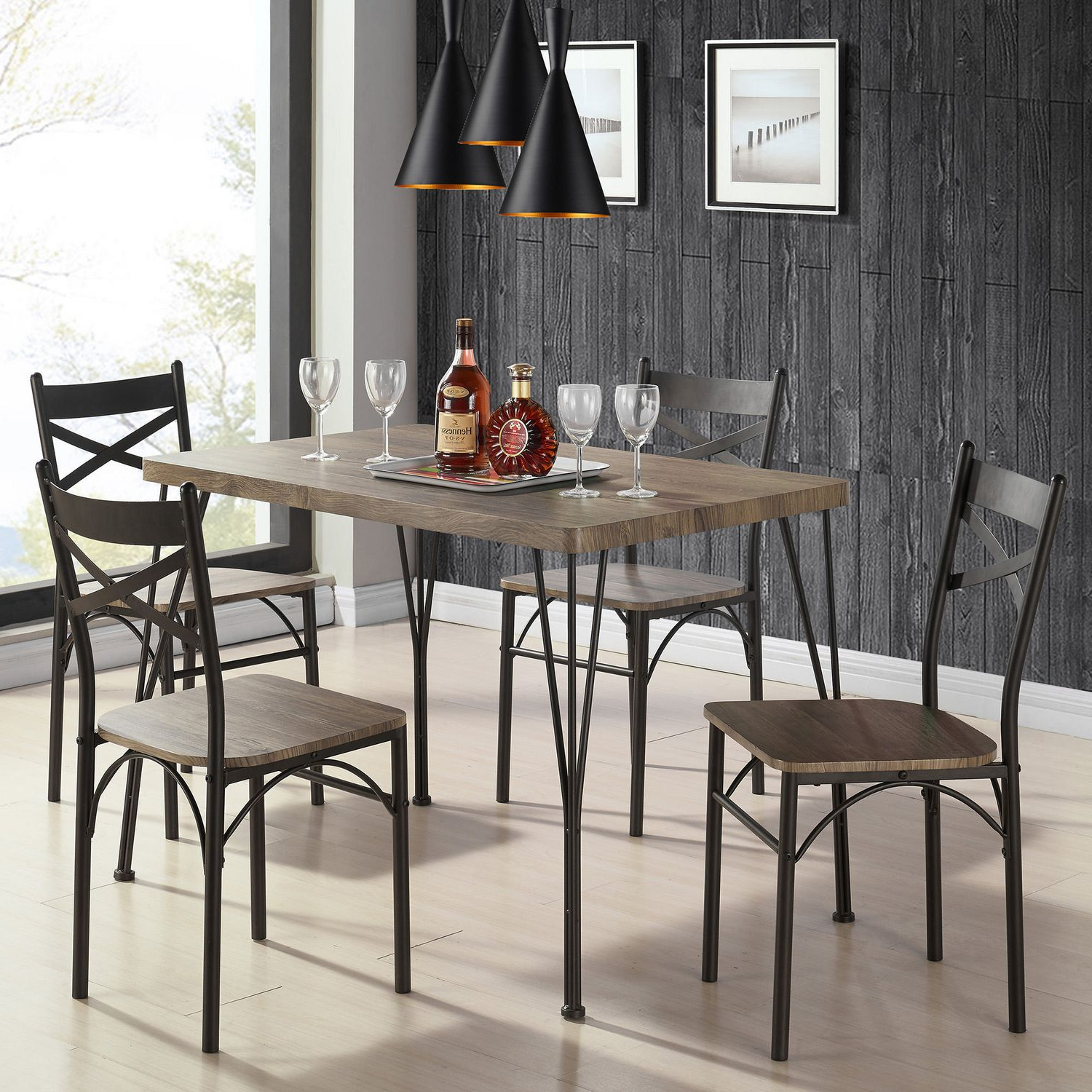 Noyes 5 Piece Dining Sets Throughout Popular Dining Table Set – 5 Pc (View 15 of 25)