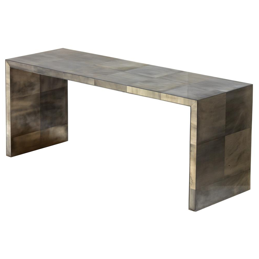 Oly Studio Giles Grey Waterfall Console Table (View 11 of 25)