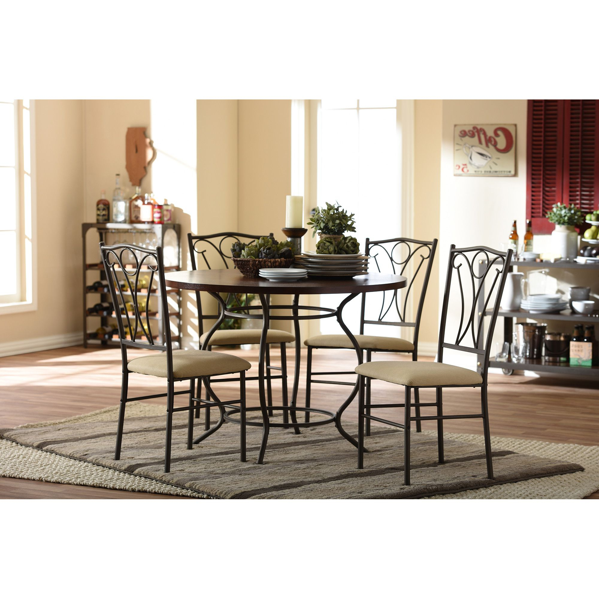 Oriole 5 Piece Dining Set (View 9 of 25)