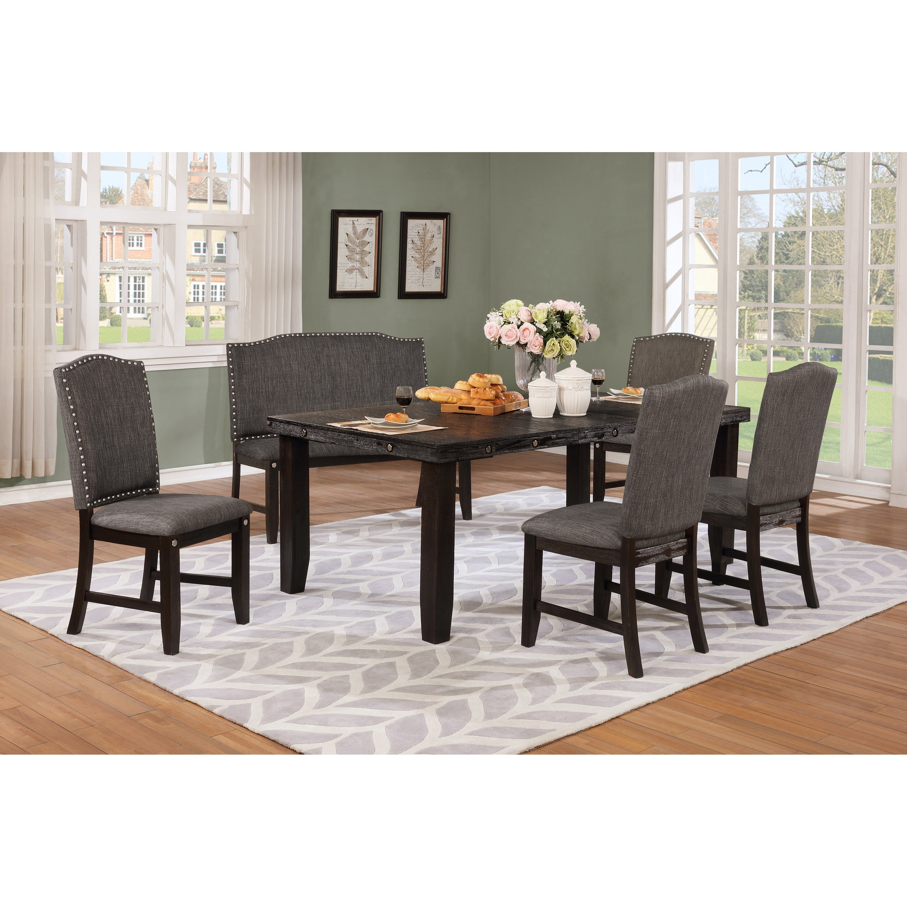 Osterman 6 Piece Extendable Dining Sets (Set Of 6) Pertaining To 2020 Buy 6 Piece Sets Kitchen & Dining Room Sets Online At Overstock (View 3 of 25)