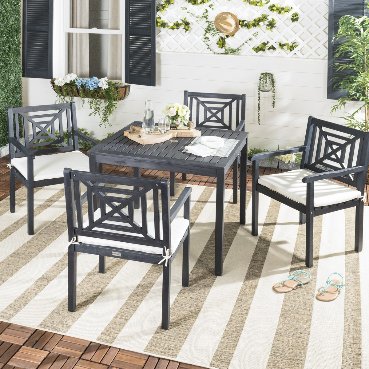Pat6722K Patio Sets – 5 Piece Outdoor Dining Sets – Furniture Within Most Up To Date Delmar 5 Piece Dining Sets (View 10 of 25)