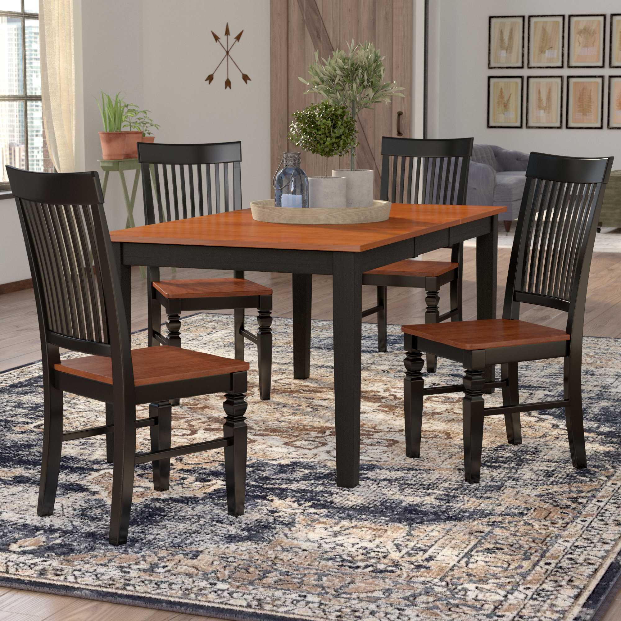 Pattonsburg 5 Piece Dining Sets Throughout Most Recently Released August Grove Pillar 5 Piece Extendable Breakfast Nook Dining Set (View 14 of 25)