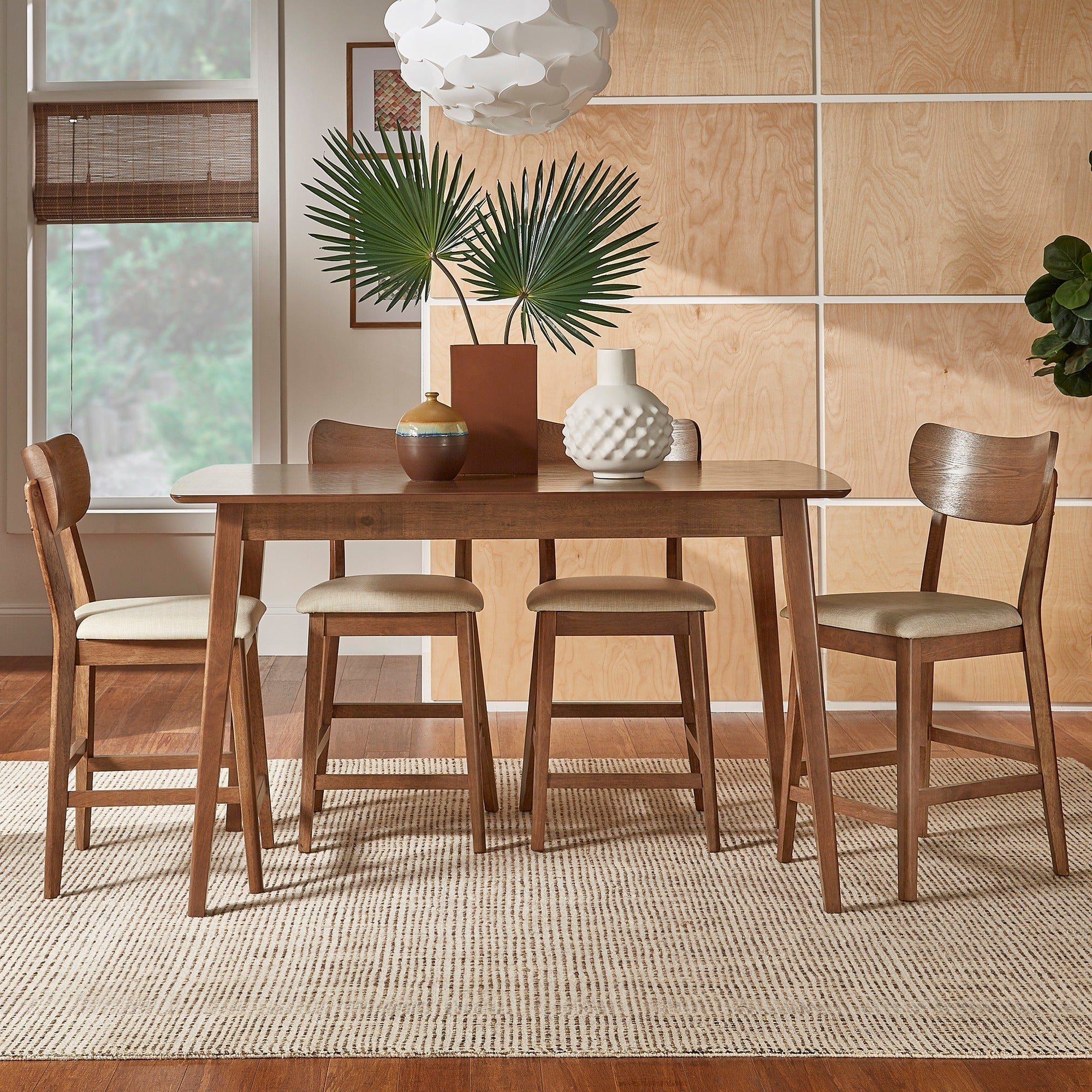 Penelope 3 Piece Counter Height Wood Dining Sets Inside Most Up To Date Shop Penelope Danish Modern Tapered Leg Counter Height Chair (Set Of (View 7 of 25)