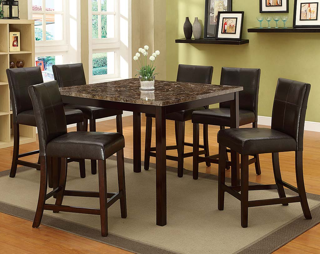 Pompei 5 Piece Counter Height Dining Set For Favorite Cargo 5 Piece Dining Sets (View 20 of 25)
