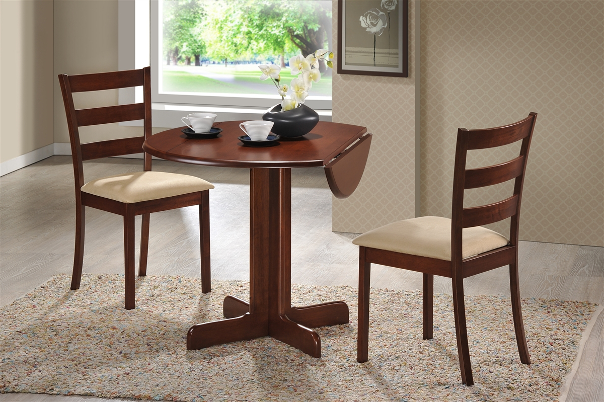 Popular 3 Piece Dining Set (View 17 of 25)