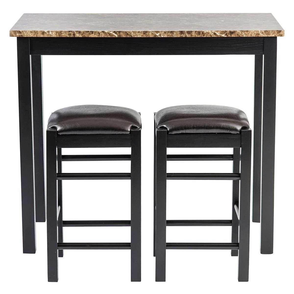Popular Bettencourt 3 Piece Counter Height Dining Sets Intended For Winston Porter Moorehead 3 Piece Counter Height Dining Set & Reviews (View 23 of 25)