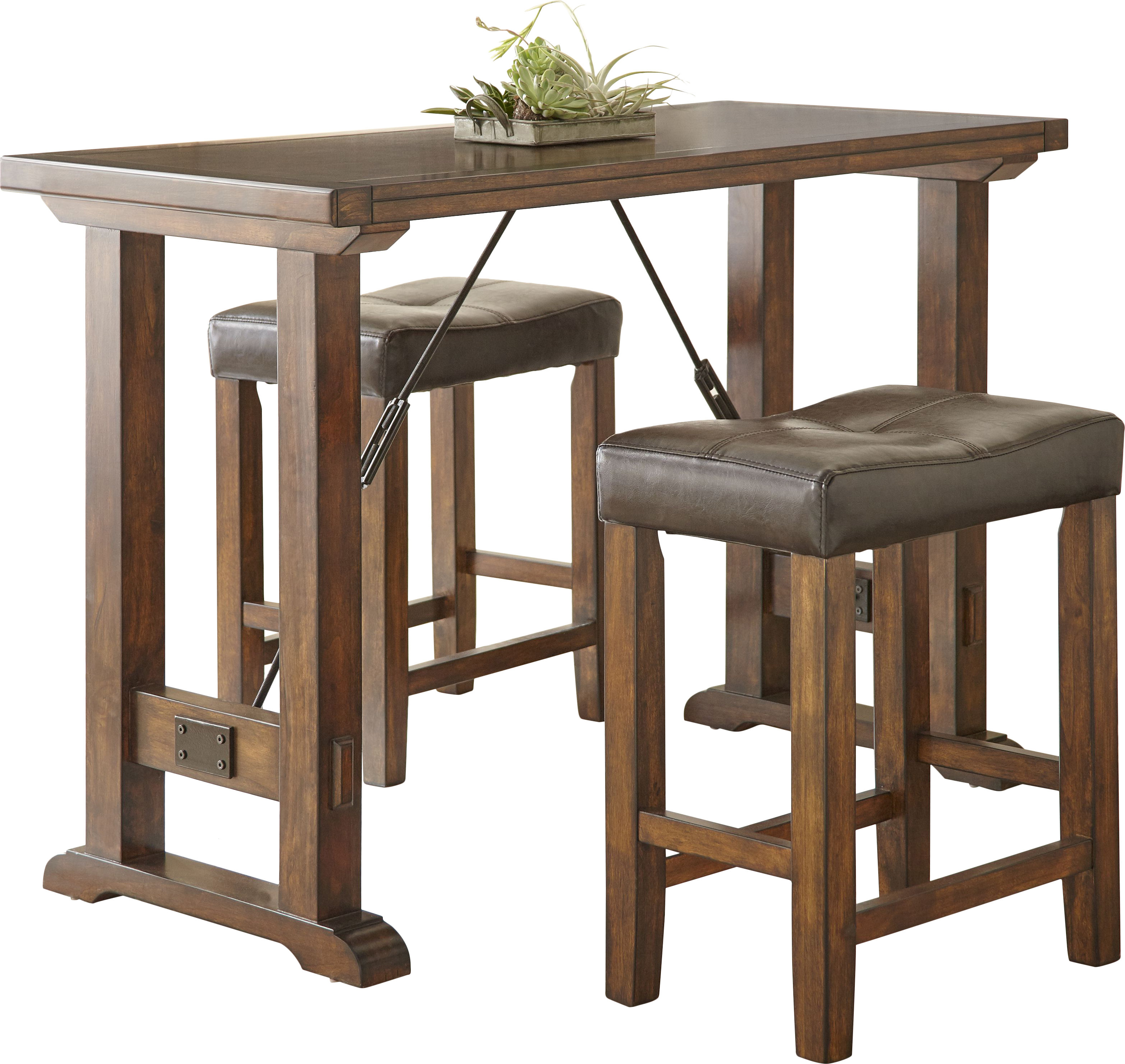 Popular Bettencourt 3 Piece Counter Height Solid Wood Dining Sets For Alcott Hill Norrell 3 Piece Counter Height Dining Set & Reviews (View 8 of 25)