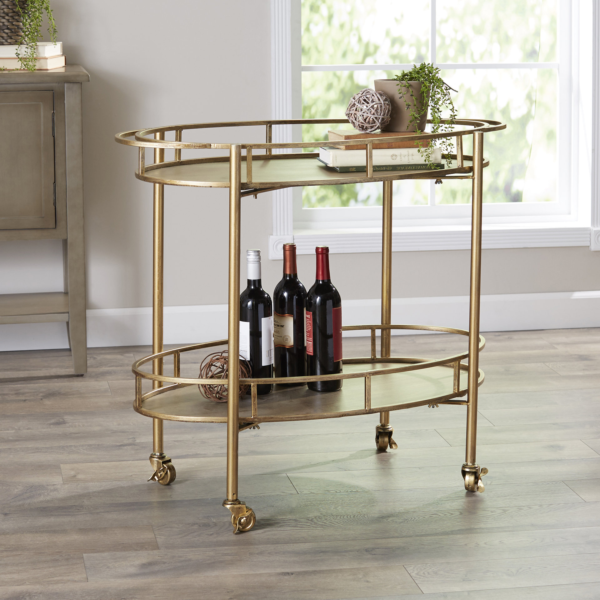 Popular Ganya 5 Piece Dining Sets Intended For Emersyn Bar Cart & Reviews (View 22 of 25)