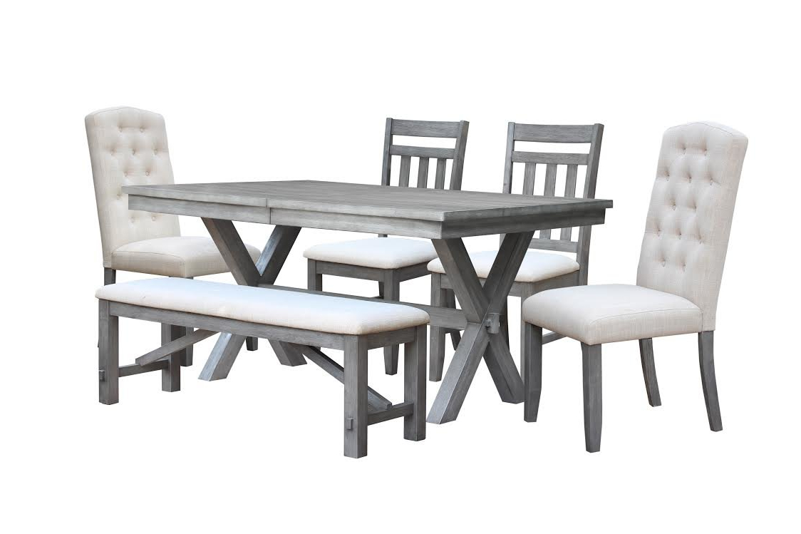 Popular Gracie Oaks Sawyer 6 Piece Extendable Dining Set  (View 17 of 25)