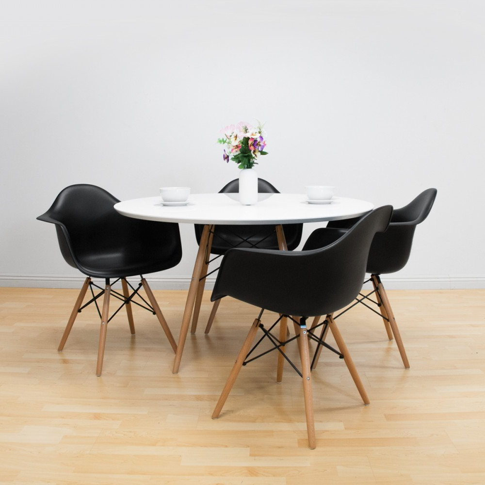 Popular John 4 Piece Dining Sets With Paris Tower Round Table 5 Piece Dining Set (View 21 of 25)