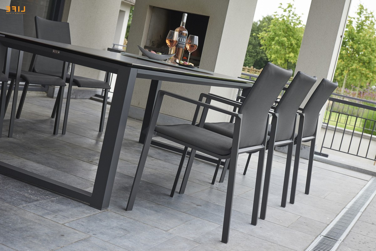 Popular Osterman 6 Piece Extendable Dining Sets (Set Of 6) With Primavera Dining Lava – Life Outdoor Living (View 14 of 25)
