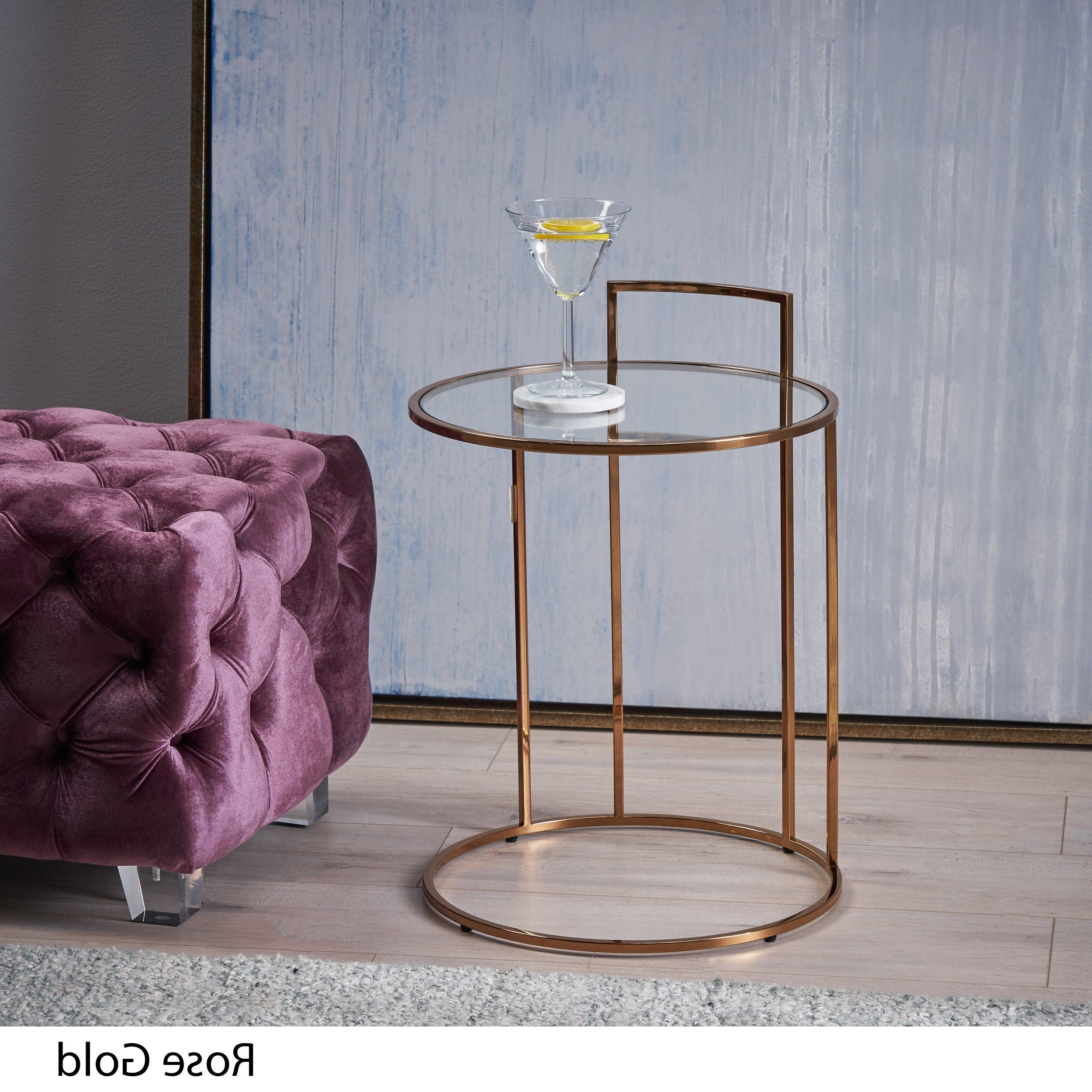 Popular Shop Christopher Knight Home Isolde Glam Tempered Glass Side Table Pertaining To Isolde 3 Piece Dining Sets (View 18 of 25)