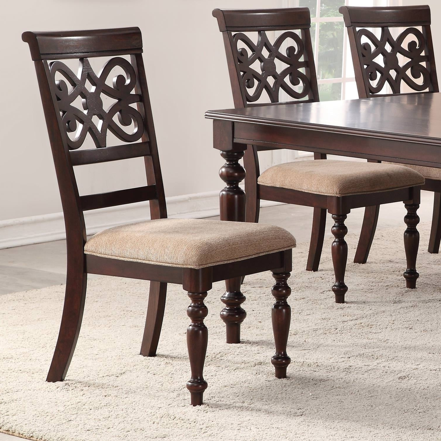 Popular Shop Home Source Laconia Walnut 5 Piece Dining Set – Free Shipping Throughout Laconia 7 Pieces Solid Wood Dining Sets (Set Of 7) (View 18 of 25)
