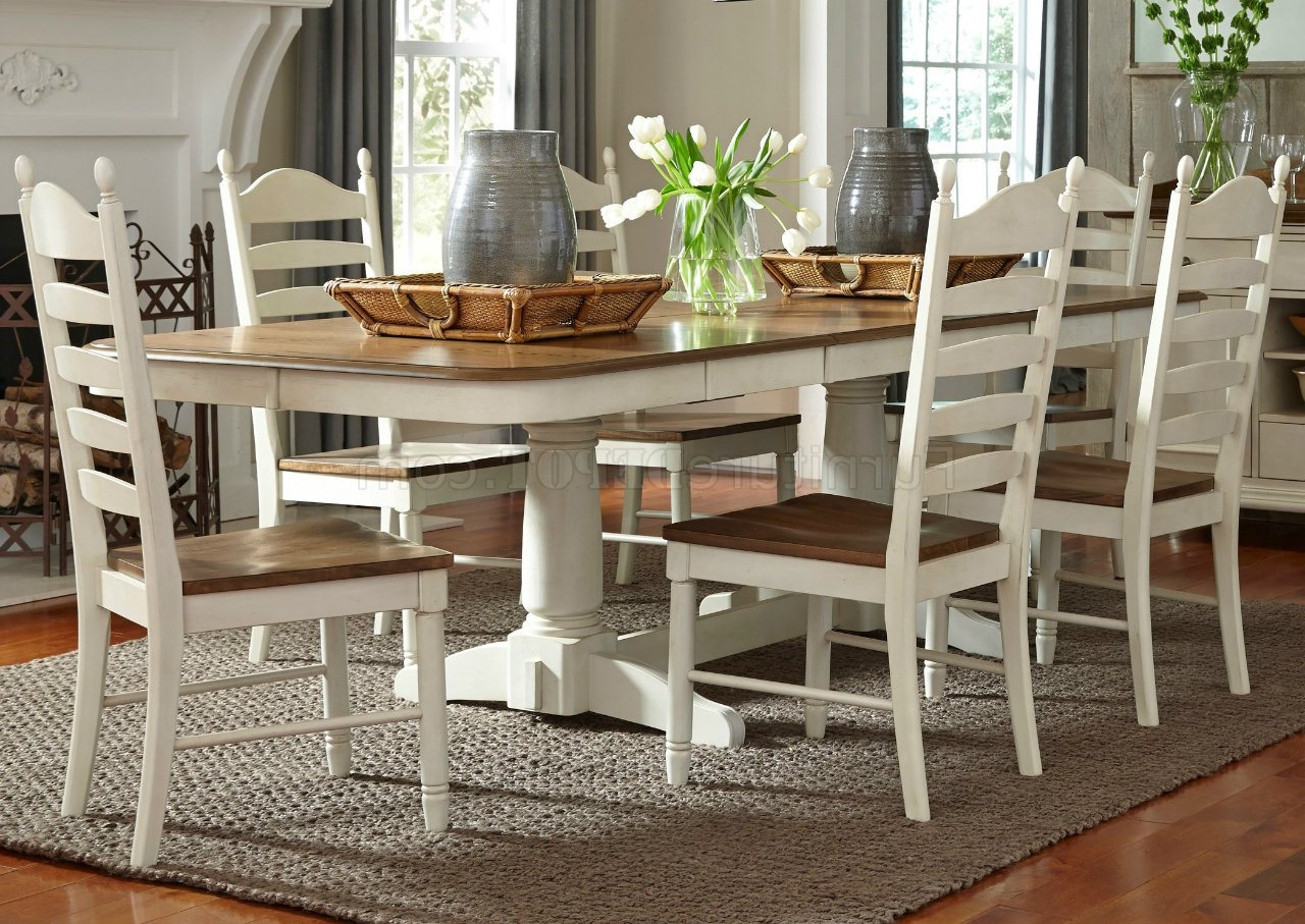 Popular Springfield Dining 278 Cd Ps 7Pc Set In Honey & Creamliberty For Springfield 3 Piece Dining Sets (View 3 of 25)
