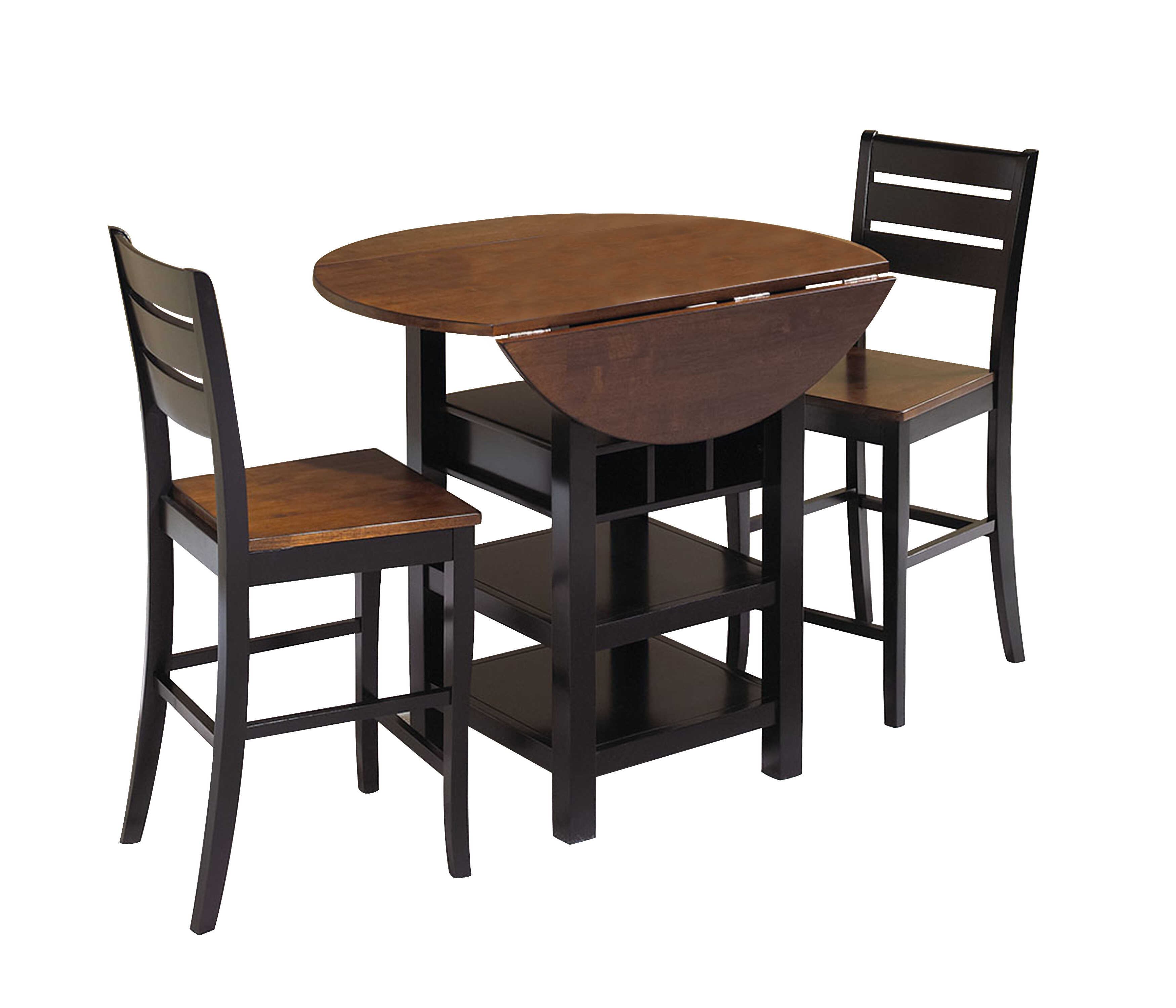 Popular World Menagerie Atwater 3 Piece Counter Height Dining Set & Reviews With Bettencourt 3 Piece Counter Height Solid Wood Dining Sets (View 5 of 25)