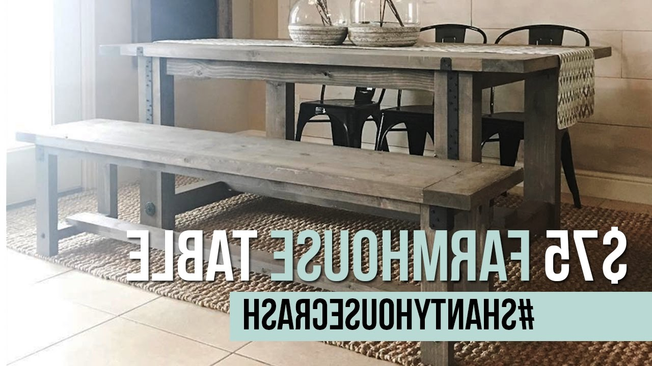 Popular Yedinak 5 Piece Solid Wood Dining Sets Intended For $75 Farmhouse Dining Table Build (View 19 of 25)