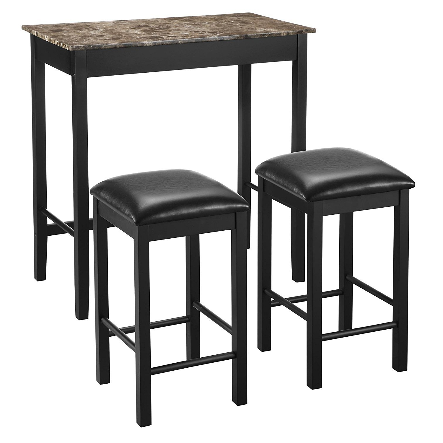 Preferred Amazon – Linon Tavern Collection 3 Piece Table Set – Table With Valladares 3 Piece Pub Table Sets (View 14 of 25)
