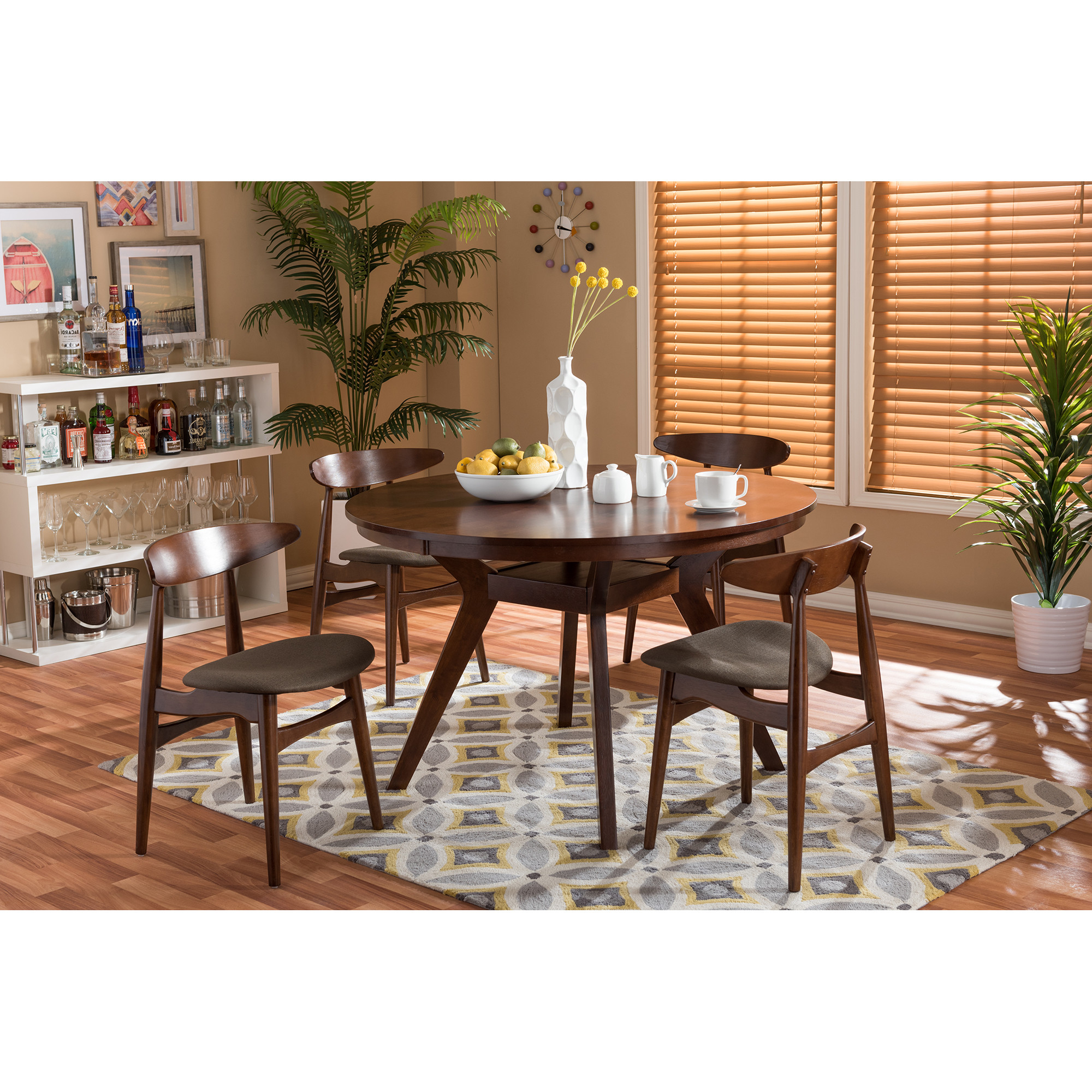 Preferred Baxton Studio Keitaro 5 Piece Dining Sets With Wholesale Dining Sets. Room Pier One (View 2 of 25)