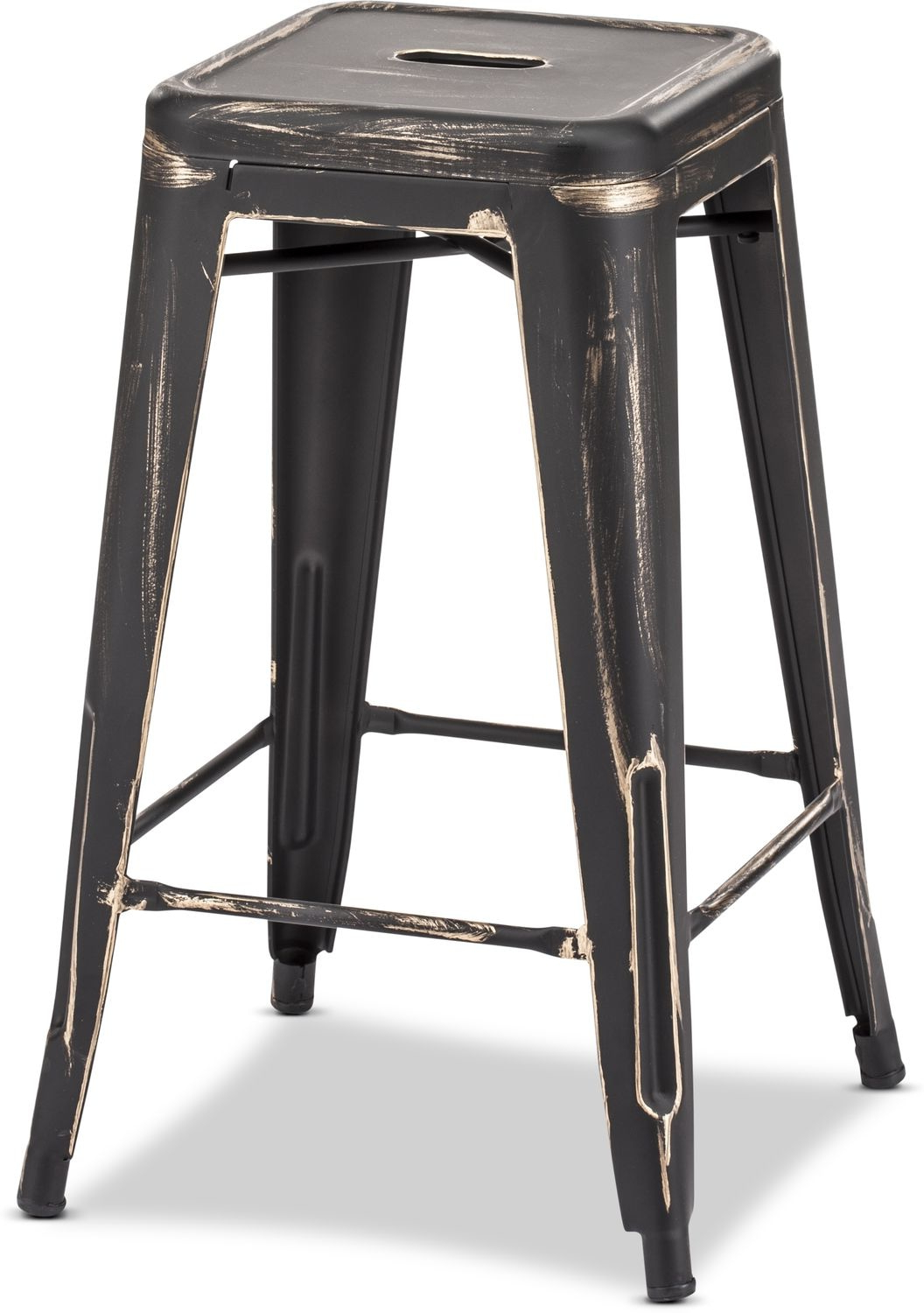 Preferred Biggs Set Of 2 Counter Height Stools – Black/gold (View 15 of 25)