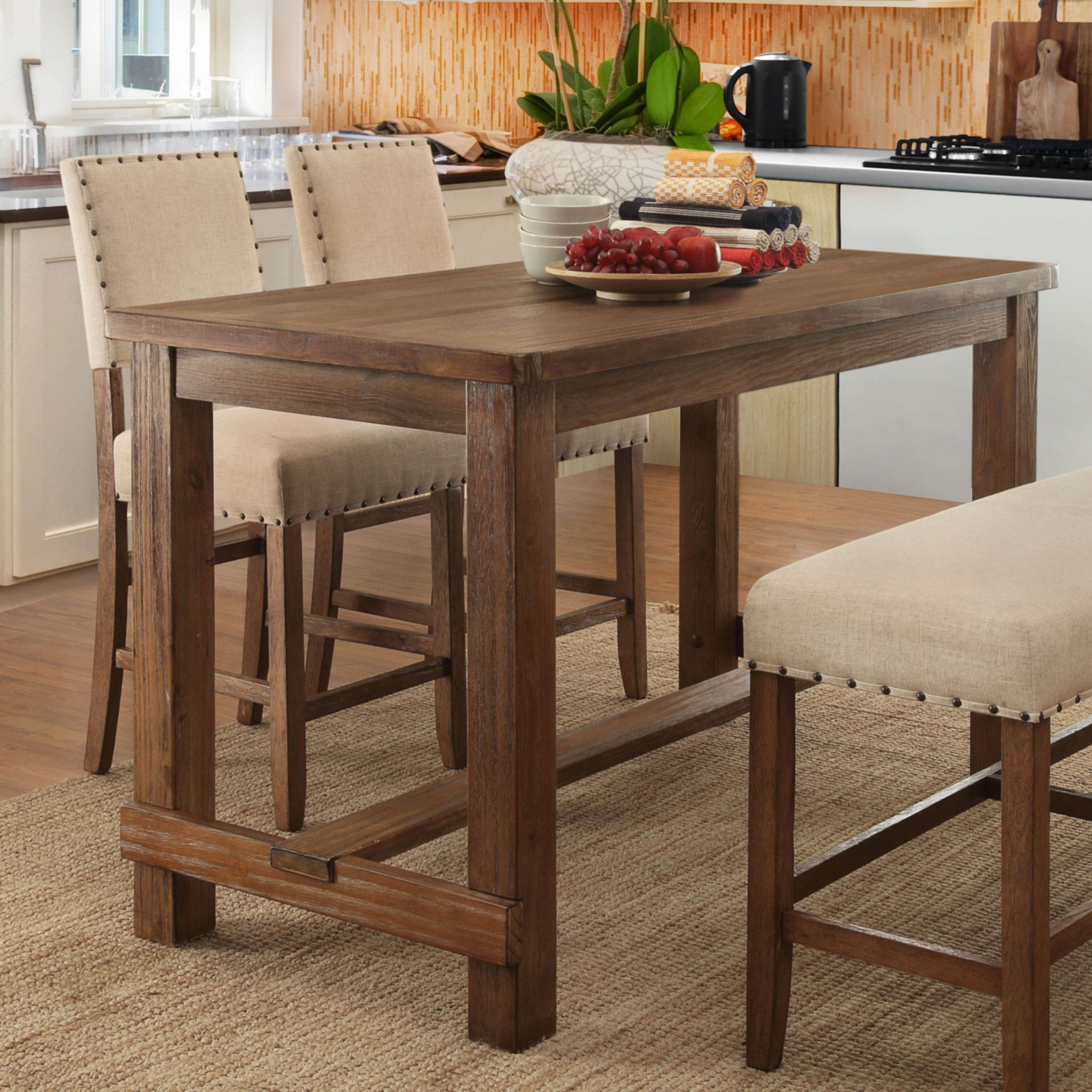 Preferred Buy Furniture Of America Kitchen & Dining Room Tables Online At Regarding Biggs 5 Piece Counter Height Solid Wood Dining Sets (Set Of 5) (View 10 of 25)