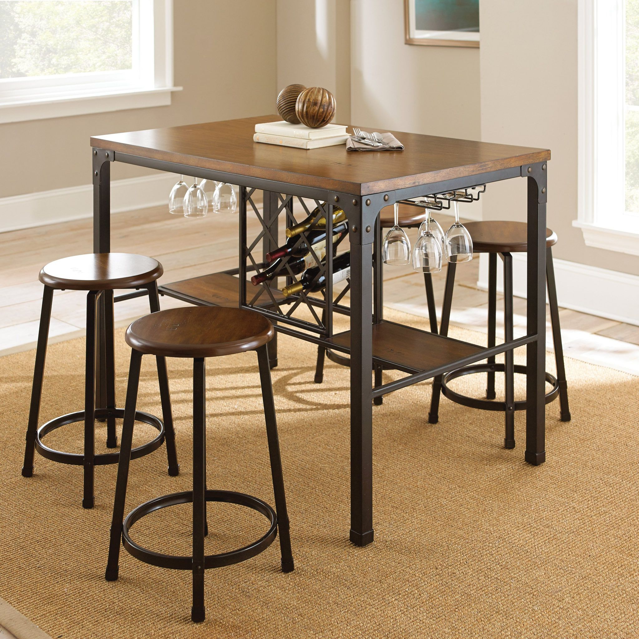Preferred Creative Kitchen Table With Wine Rack Underneath (View 21 of 25)