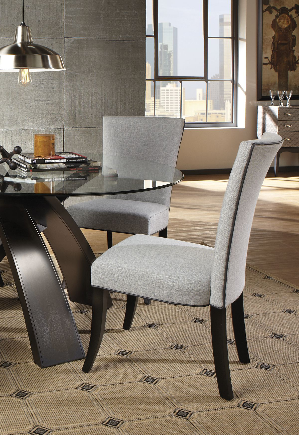 Preferred Delmar 5 Piece Dining Sets In Invigorate An Uninspired Dining Set With A Table That Will Catch (View 4 of 25)
