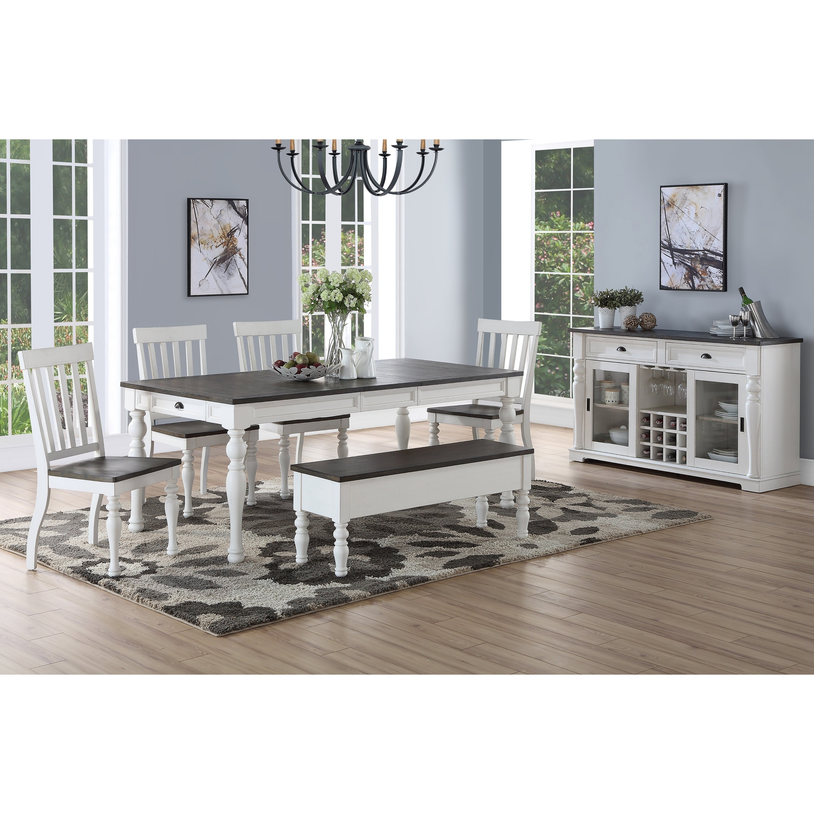 Preferred Falmer 3 Piece Solid Wood Dining Sets Throughout Buy Farmhouse Kitchen & Dining Room Sets Online At Overstock (View 18 of 25)