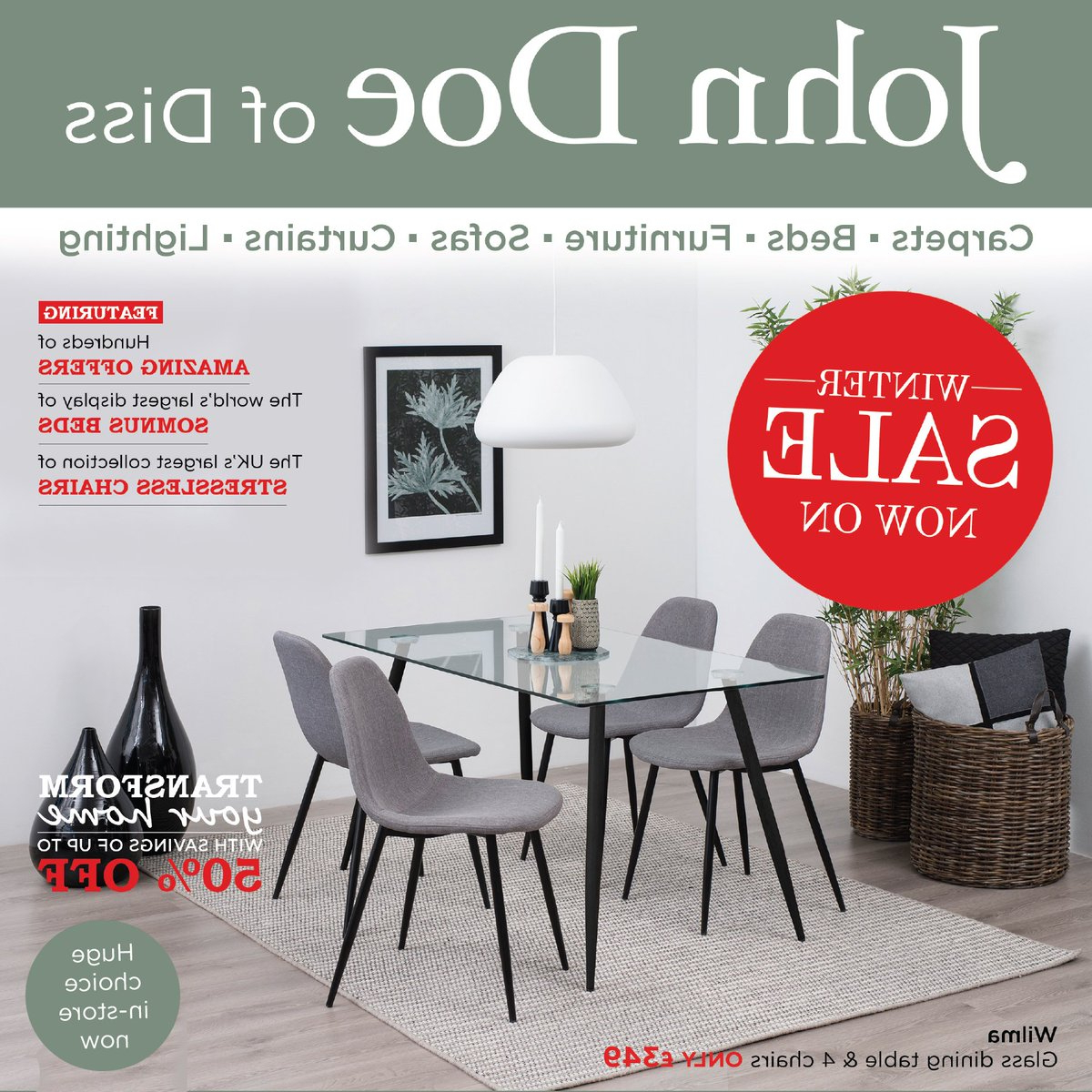 """Preferred John Doe Of Diss On Twitter: """"#winter #sale Now On! Huge #savings In Intended For John 4 Piece Dining Sets (View 20 of 25)"""