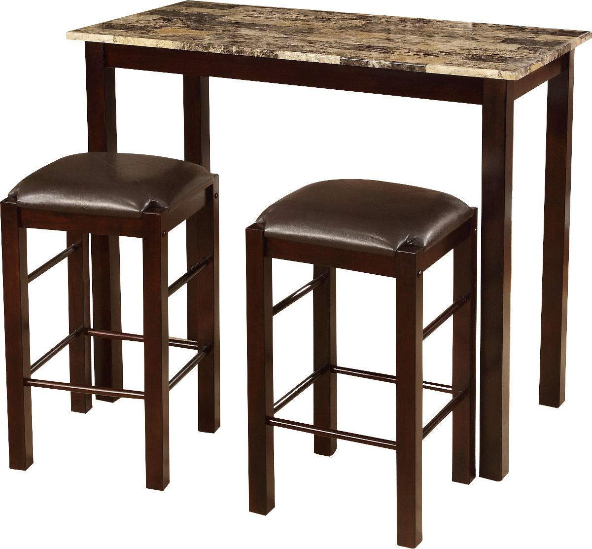 Preferred Penelope 3 Piece Counter Height Wood Dining Sets Inside Amazon – Winston Porter Penelope 3 Piece Counter Height Wood (View 3 of 25)