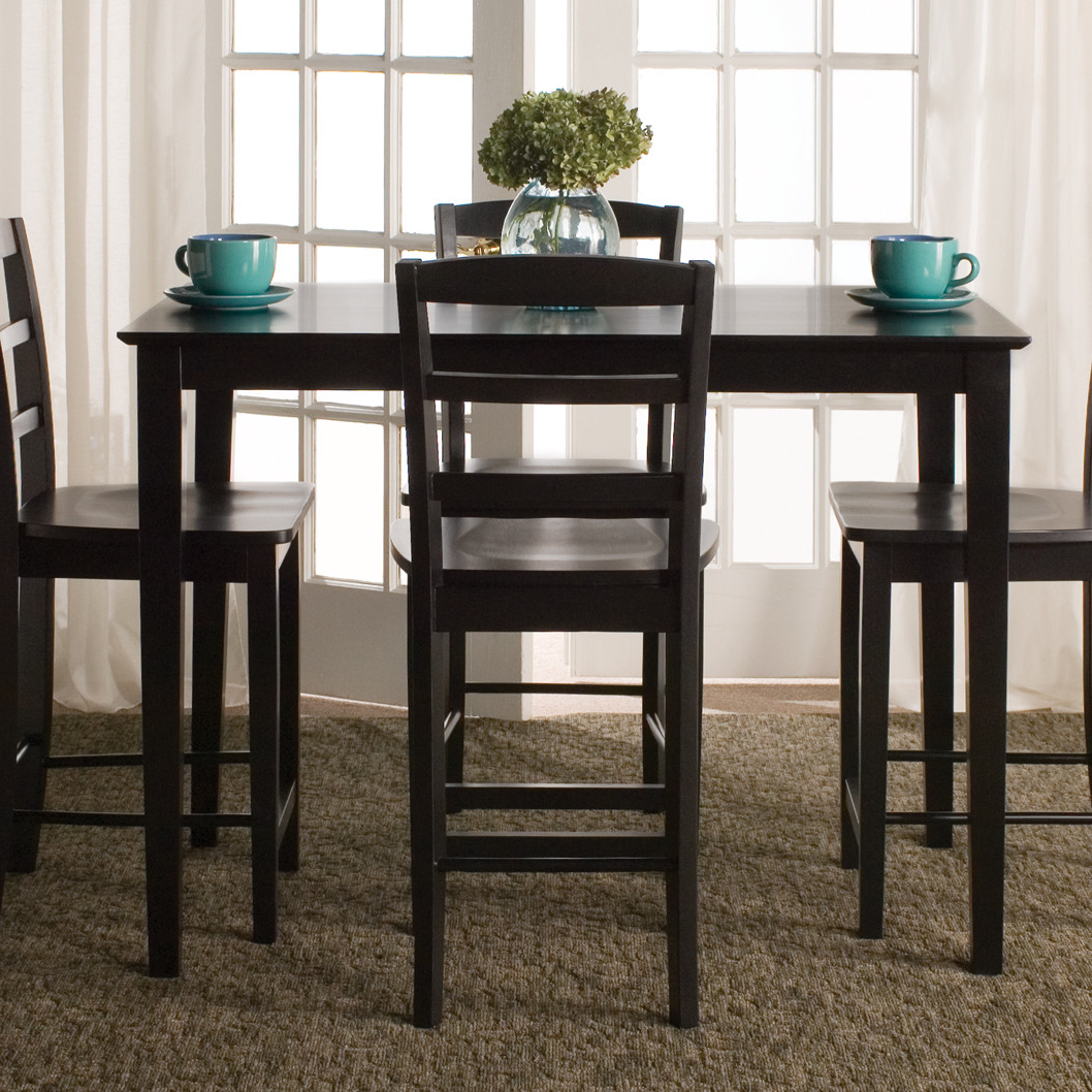 Preferred Tenney 3 Piece Counter Height Dining Sets Inside Square Bistro Table Set & Square Bistro Table And Chairs Outside Pub (View 24 of 25)