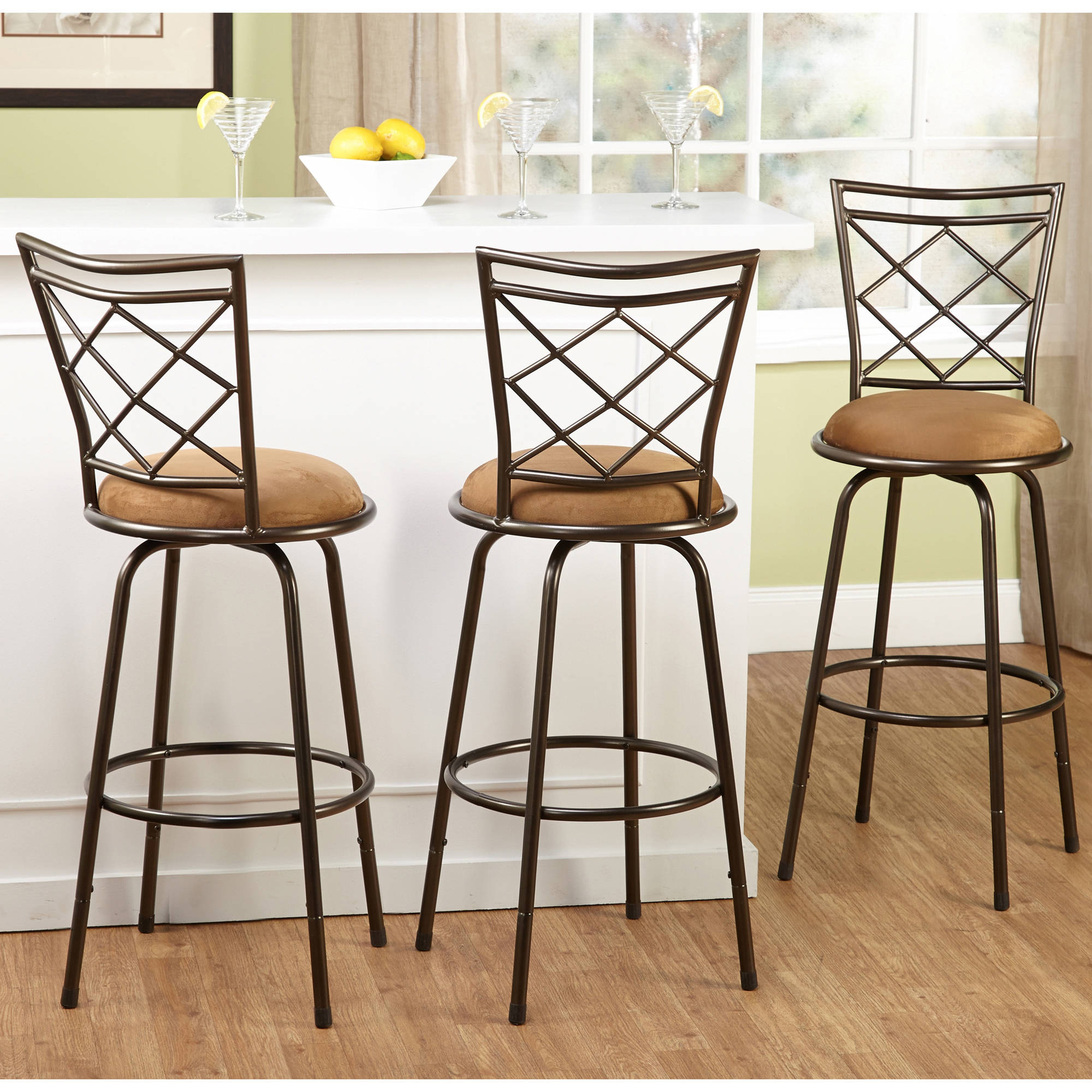 Preferred Tms Avery Adjustable Height Bar Stool, Multiple Colors, Set Of 3 Inside Sheetz 3 Piece Counter Height Dining Sets (View 17 of 25)