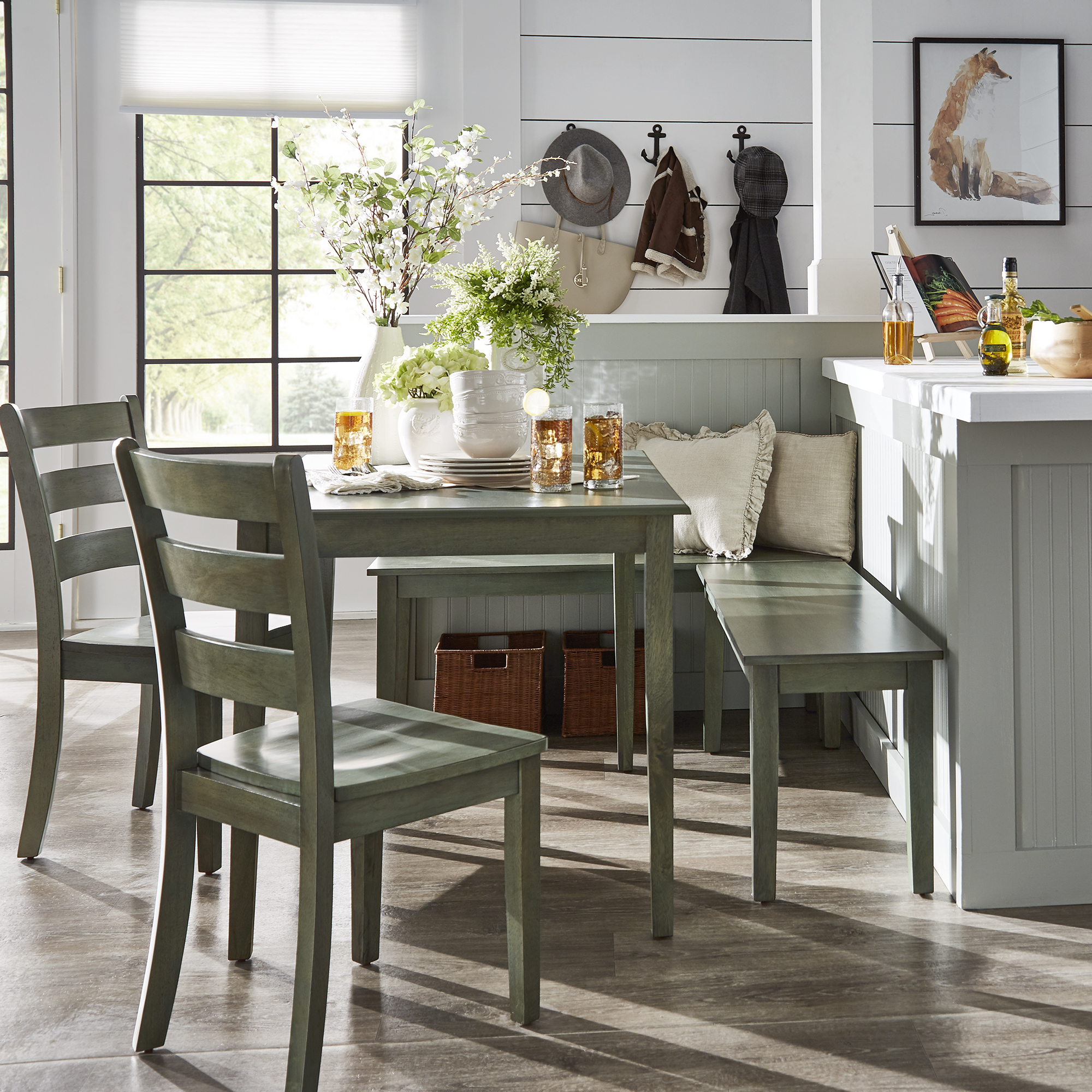 Preferred Weston Home Lexington 5 Piece Breakfast Nook Dining Set, Rectangular Pertaining To 5 Piece Breakfast Nook Dining Sets (View 17 of 25)