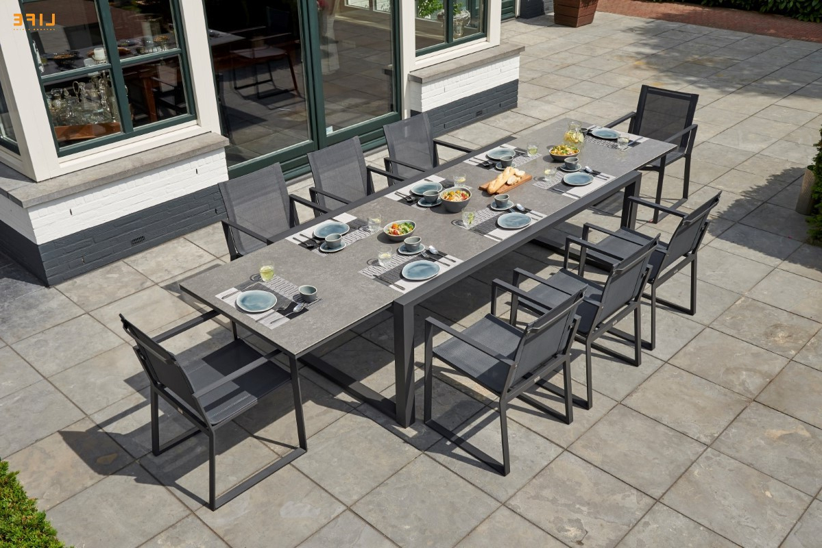 Primavera Dining Extendable Lava – Life Outdoor Living Throughout Most Up To Date Osterman 6 Piece Extendable Dining Sets (Set Of 6) (View 7 of 25)