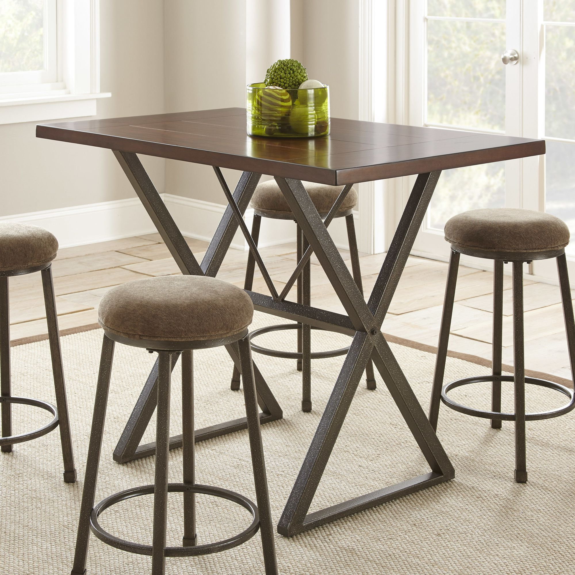 Products For Mysliwiec 5 Piece Counter Height Breakfast Nook Dining Sets (View 9 of 25)