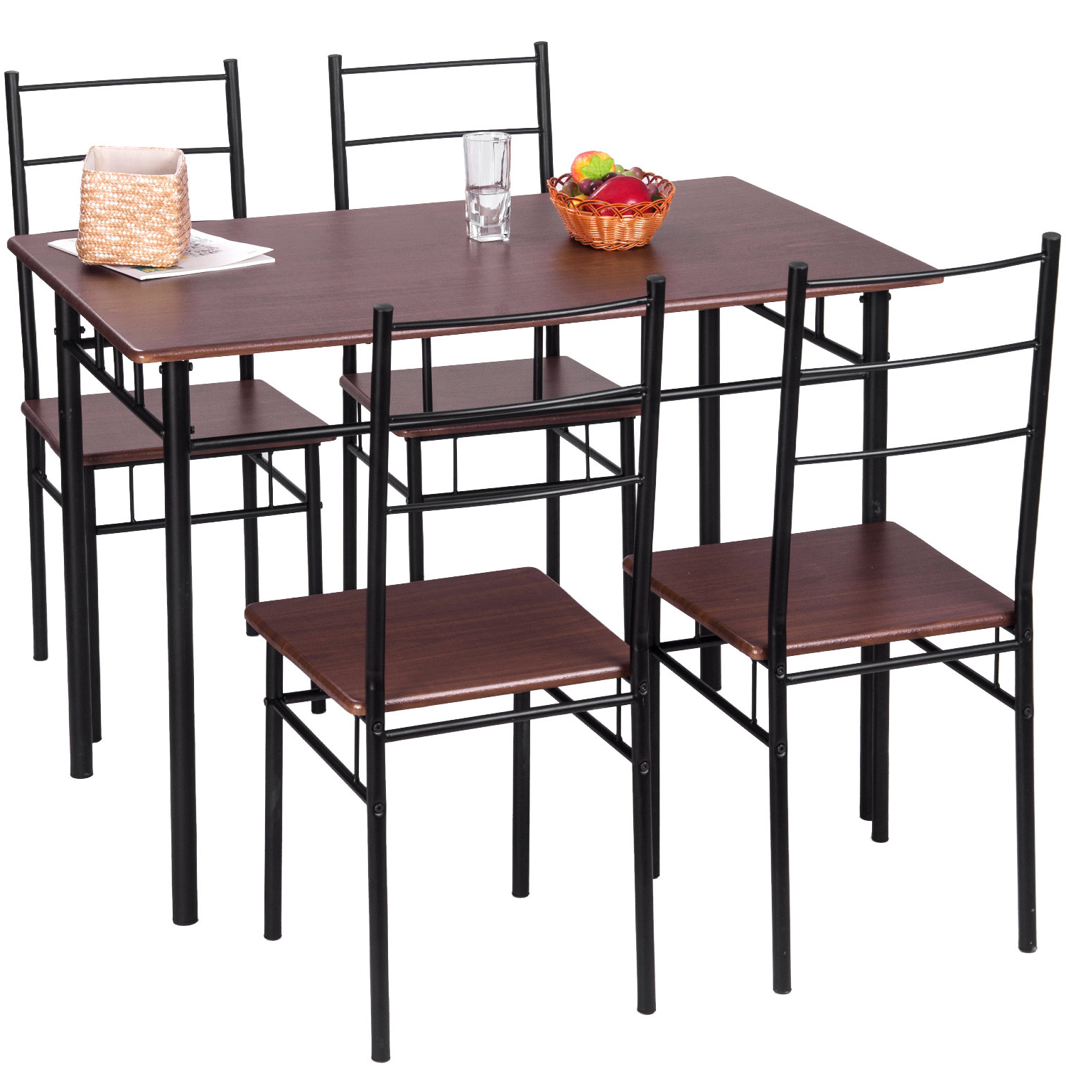 Recent Jarrod 5 Piece Dining Sets With Merax 5 Piece Breakfast Nook Dining Set & Reviews (View 10 of 25)