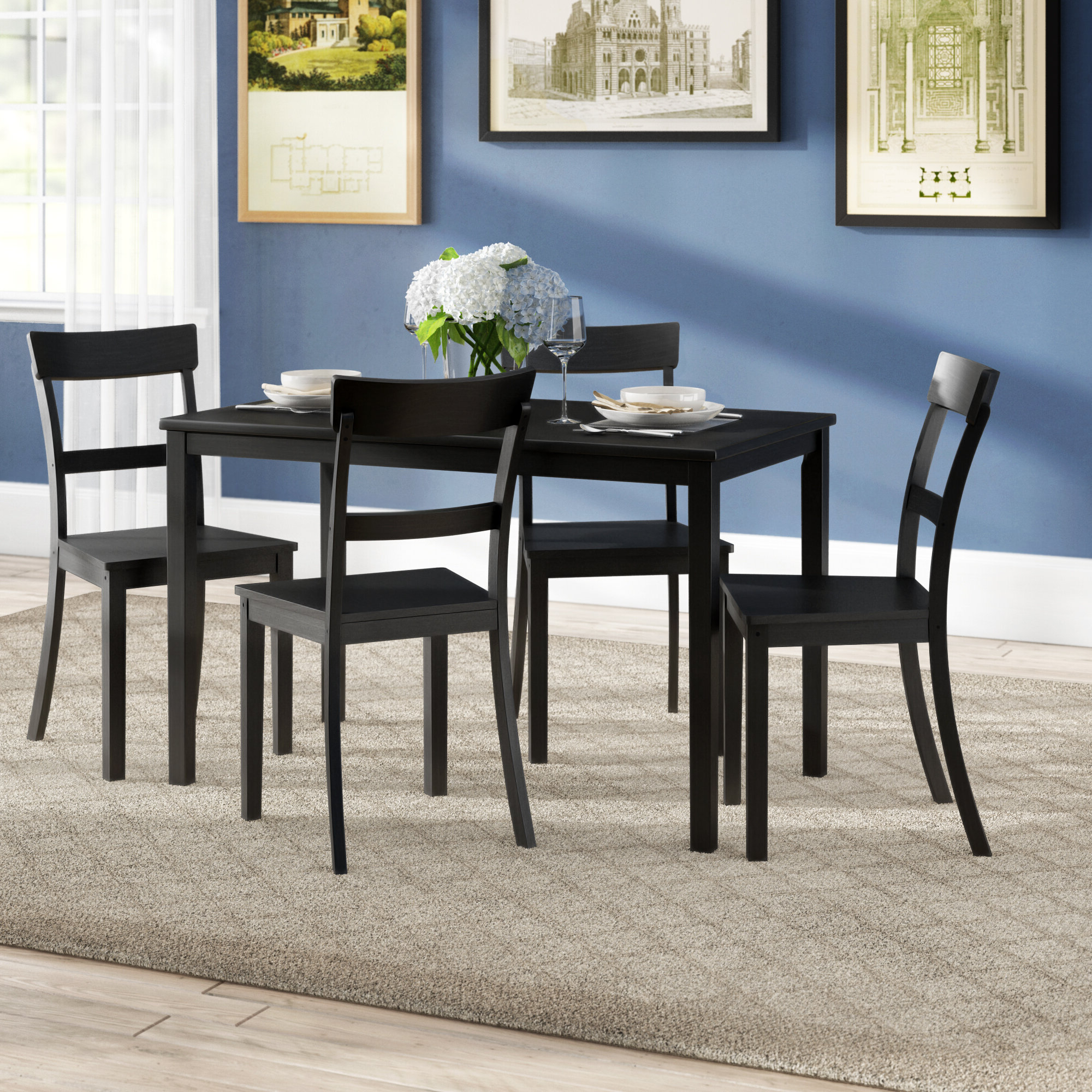 Recent Miskell 5 Piece Dining Sets within Winston Porter Beacher 5 Piece Dining Set